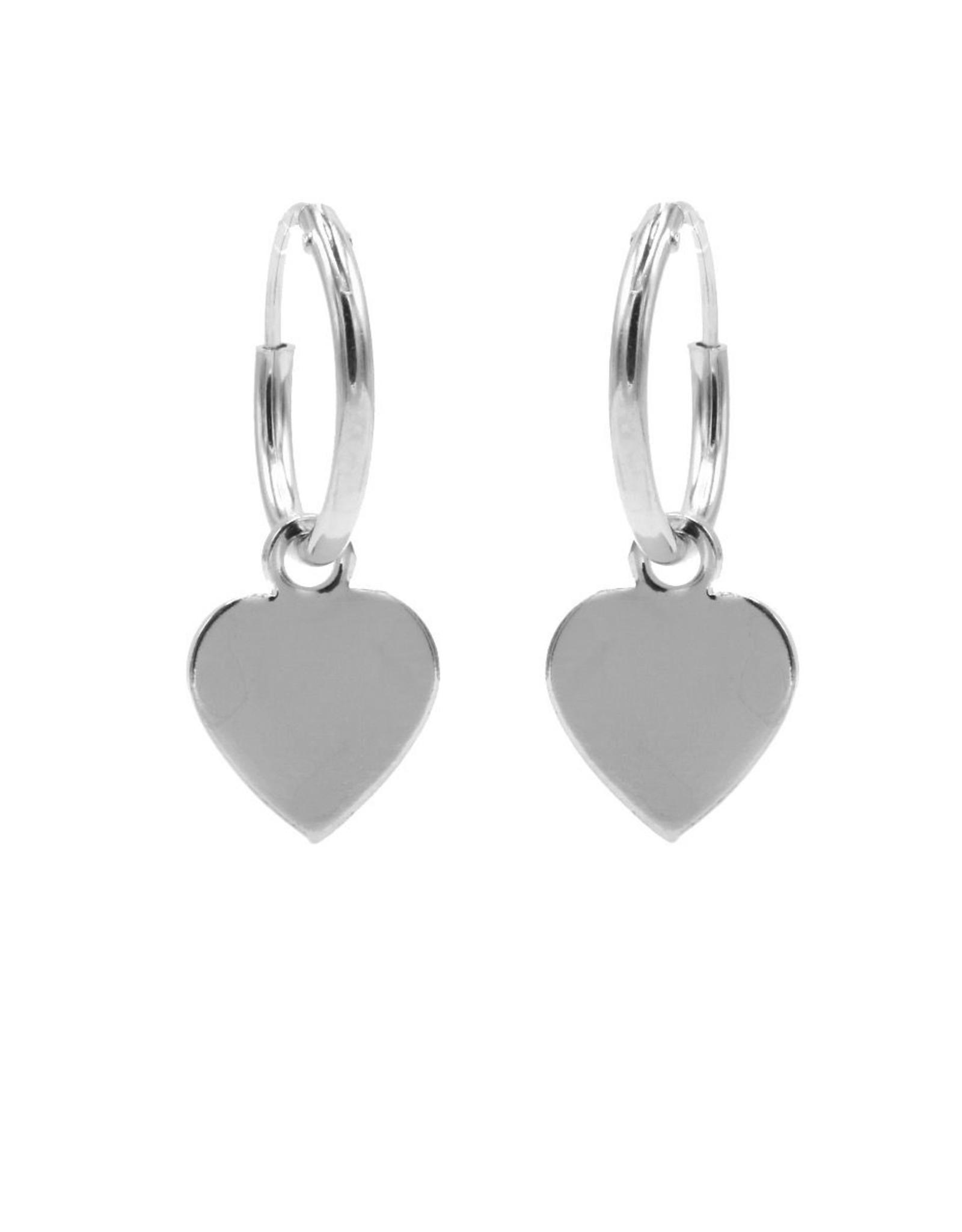 Karma Hoops Symbols Heart Silver Set
