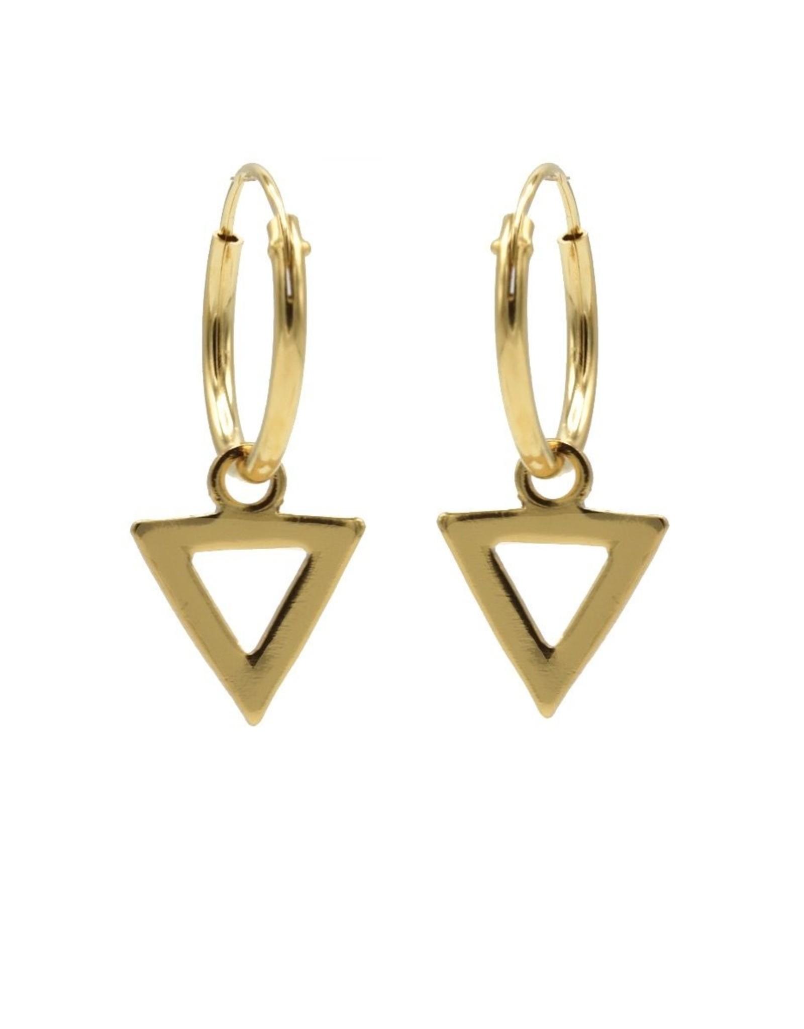 Karma Hoops Symbols Open Triangle Goldplated  Set