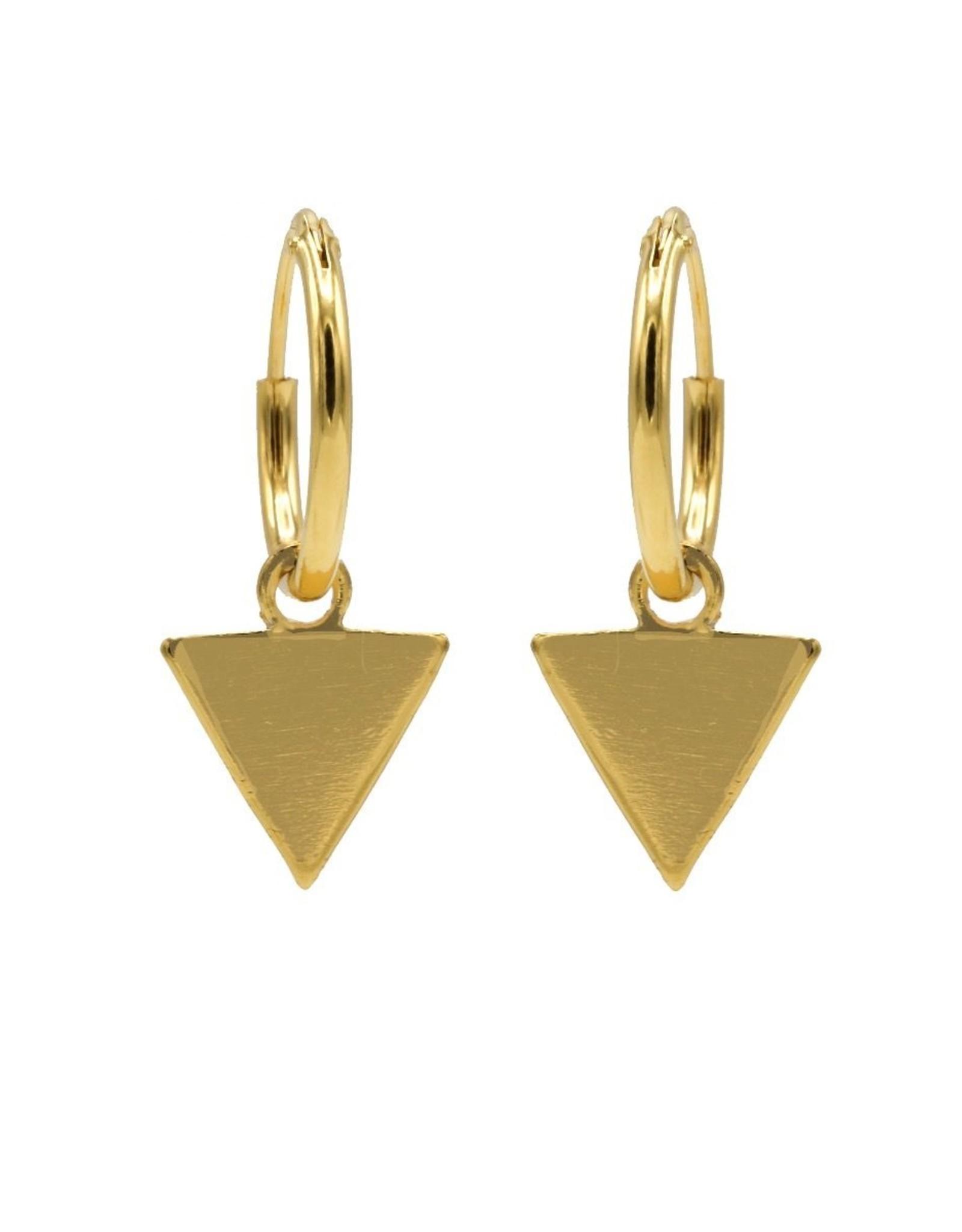 Karma Hoops Symbols Triangle Goldplated Set