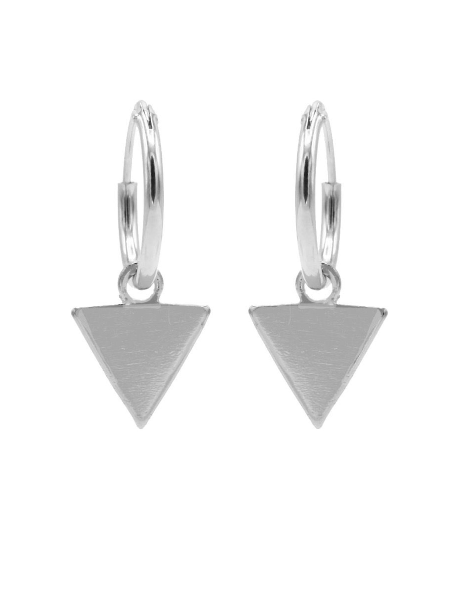 Karma Hoops Symbols Triangle Silver  Set