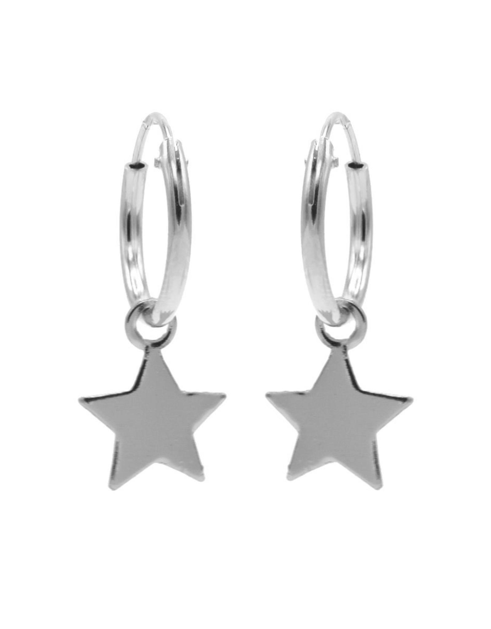 Karma Hoops Symbols Star Silver Set