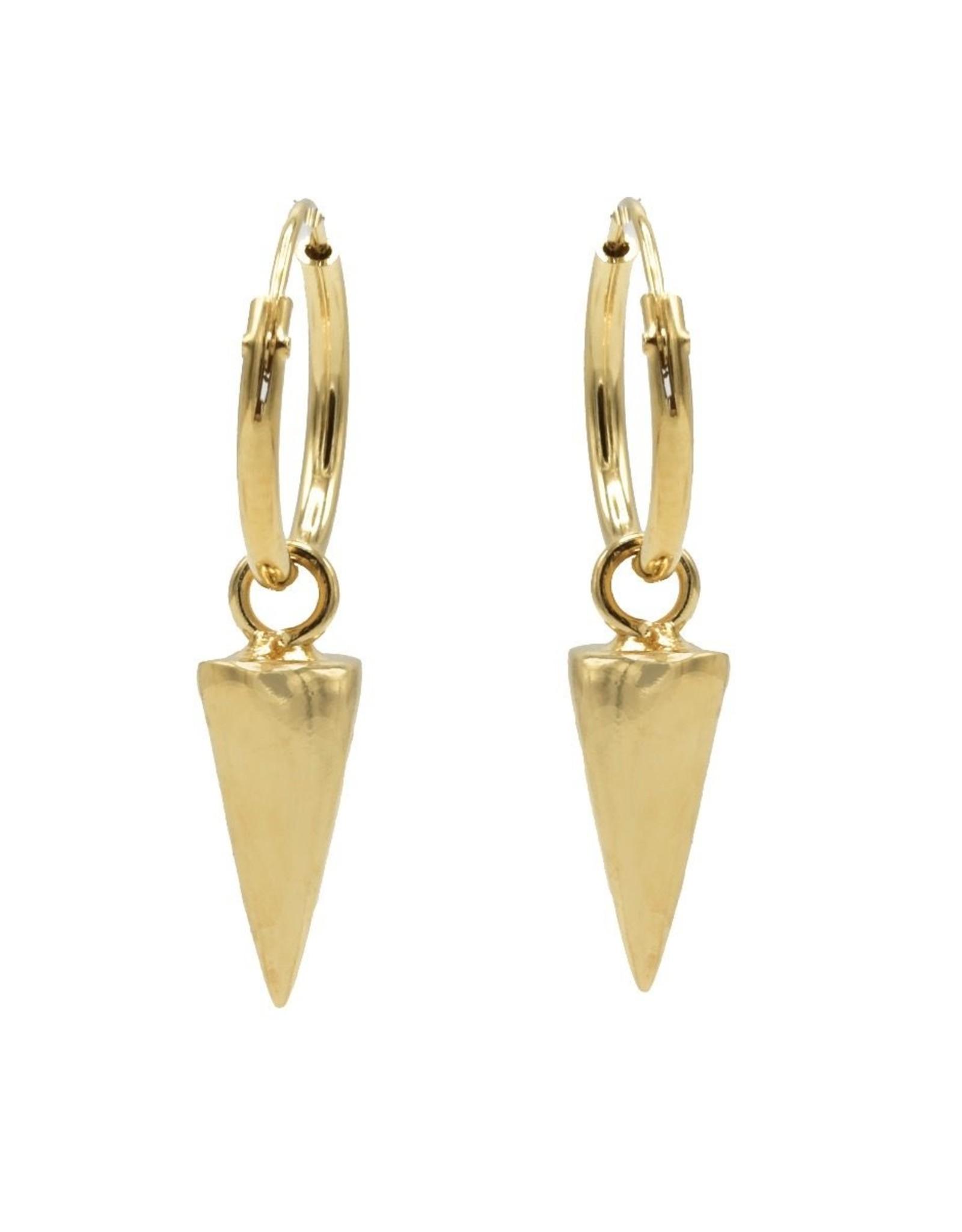 Karma Hoops Symbols Round Cone Goldplated Set