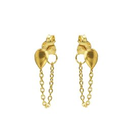 Karma Chain Drop Goldplated  Set