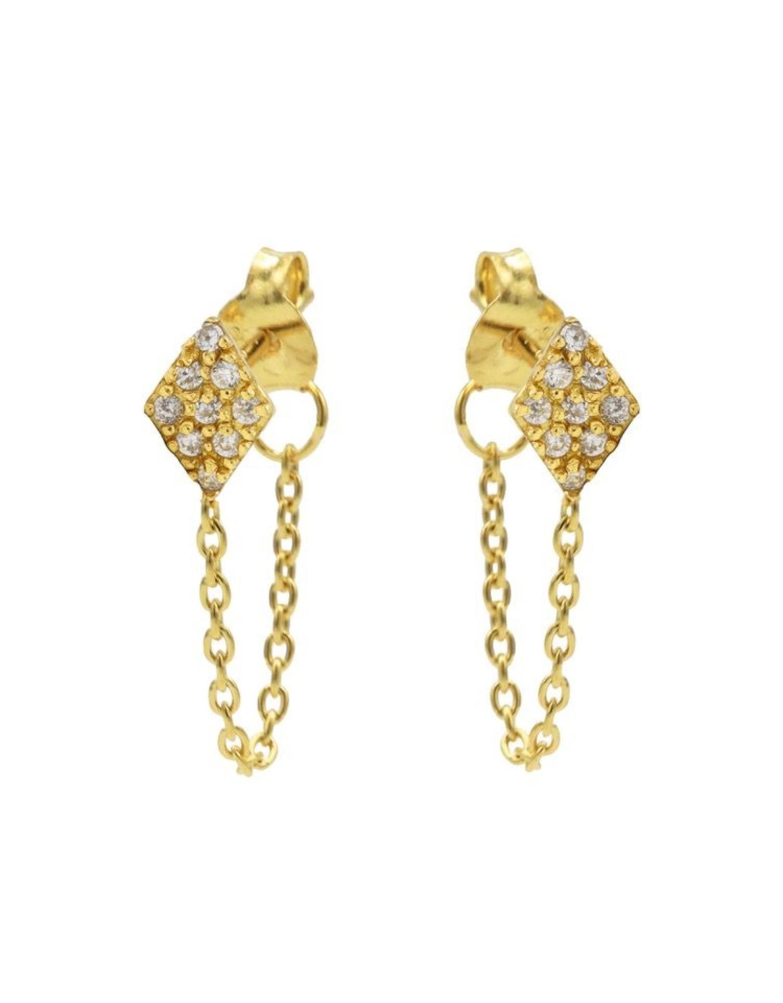 Karma Chain Zirconia Diamond Goldplated Set