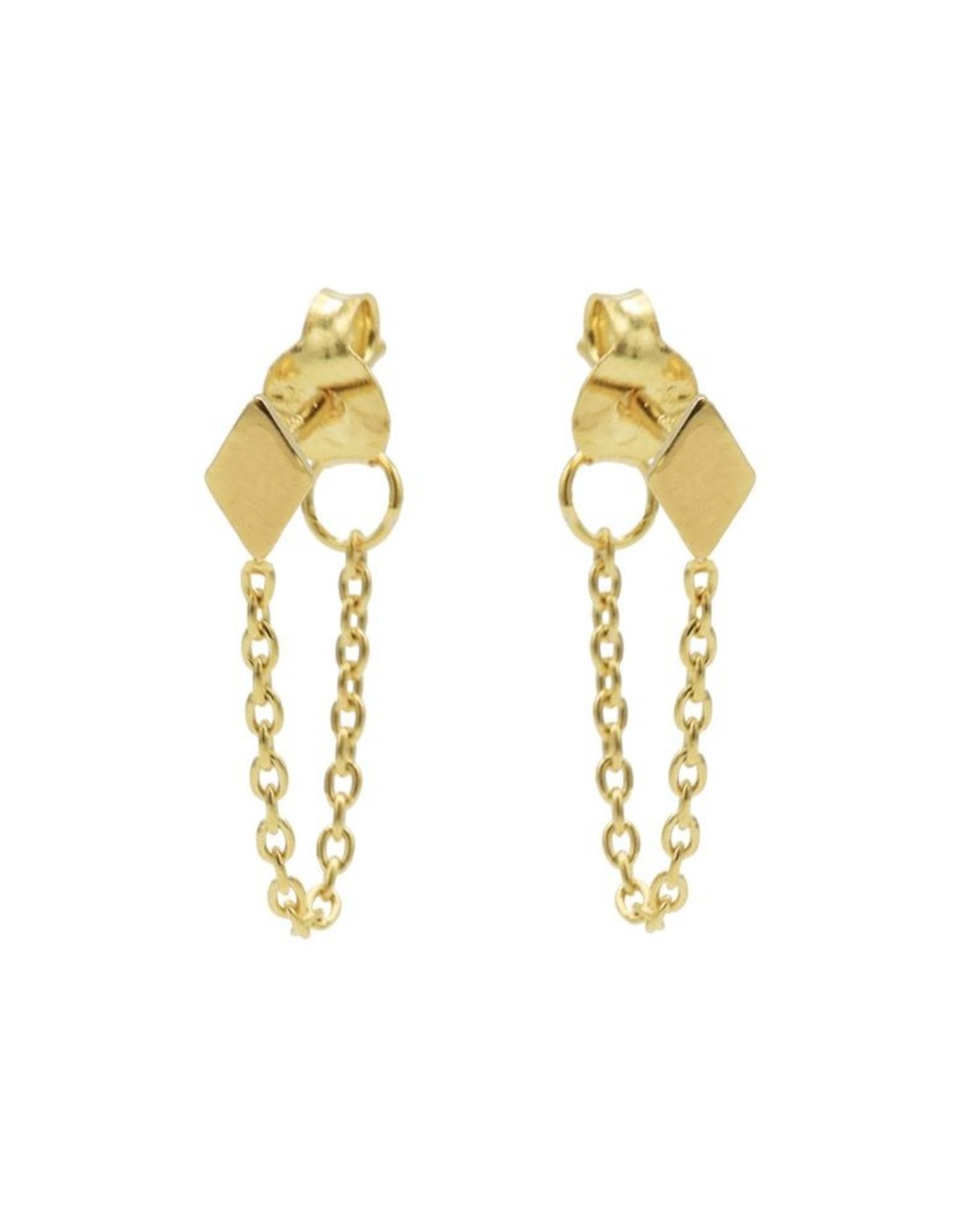 Karma Chain Diamond Goldplated  Set