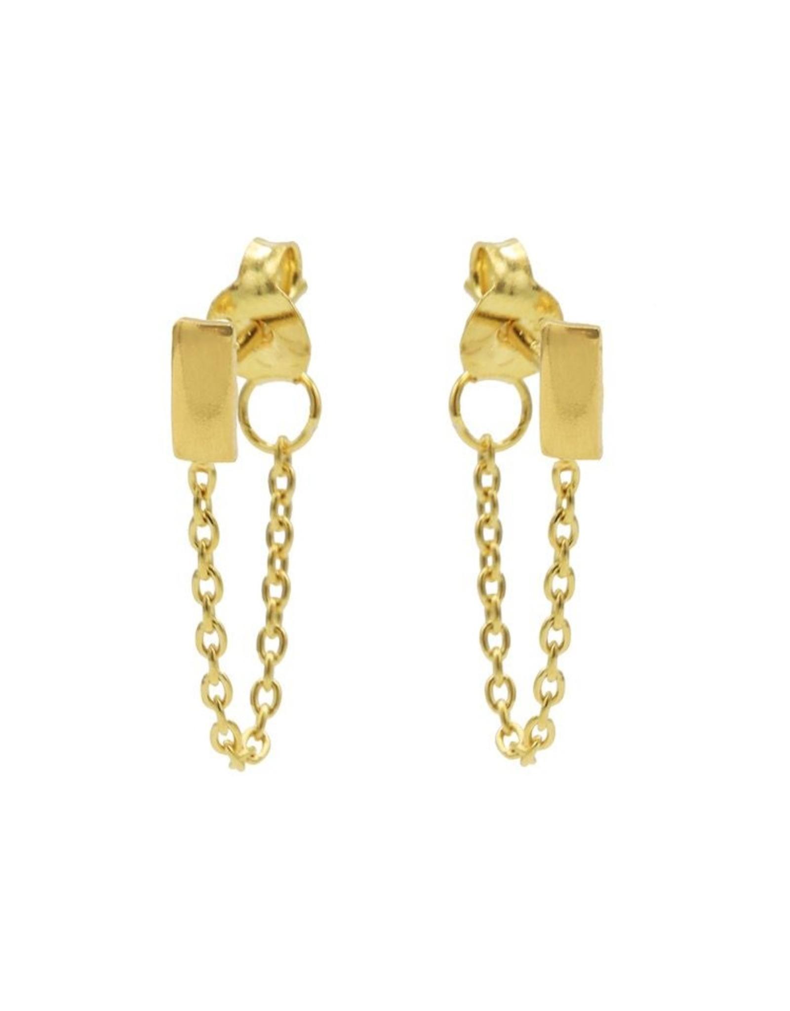 Karma Chain Rectangle Goldplated Set