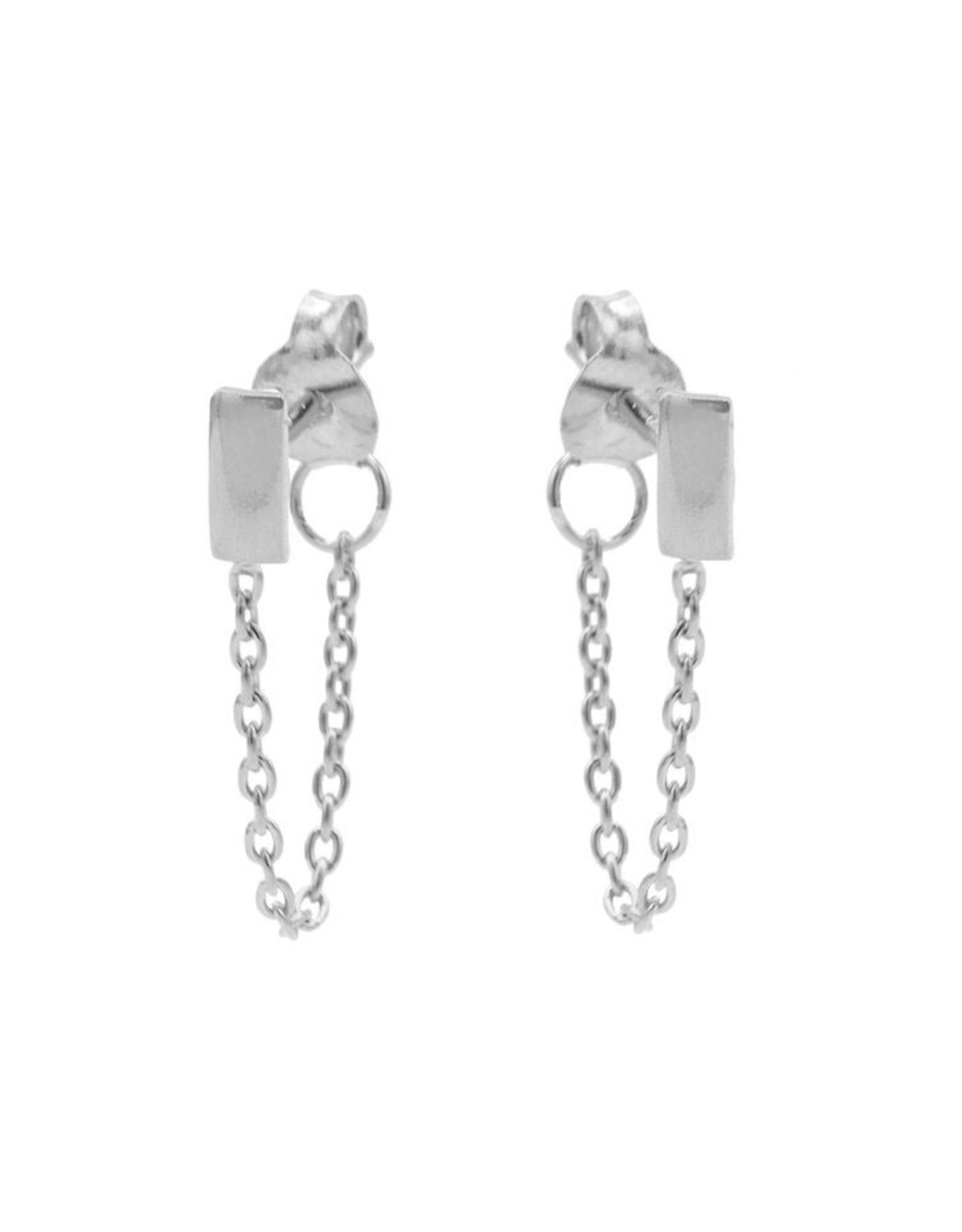 Karma Chain Rectangle Silver Set