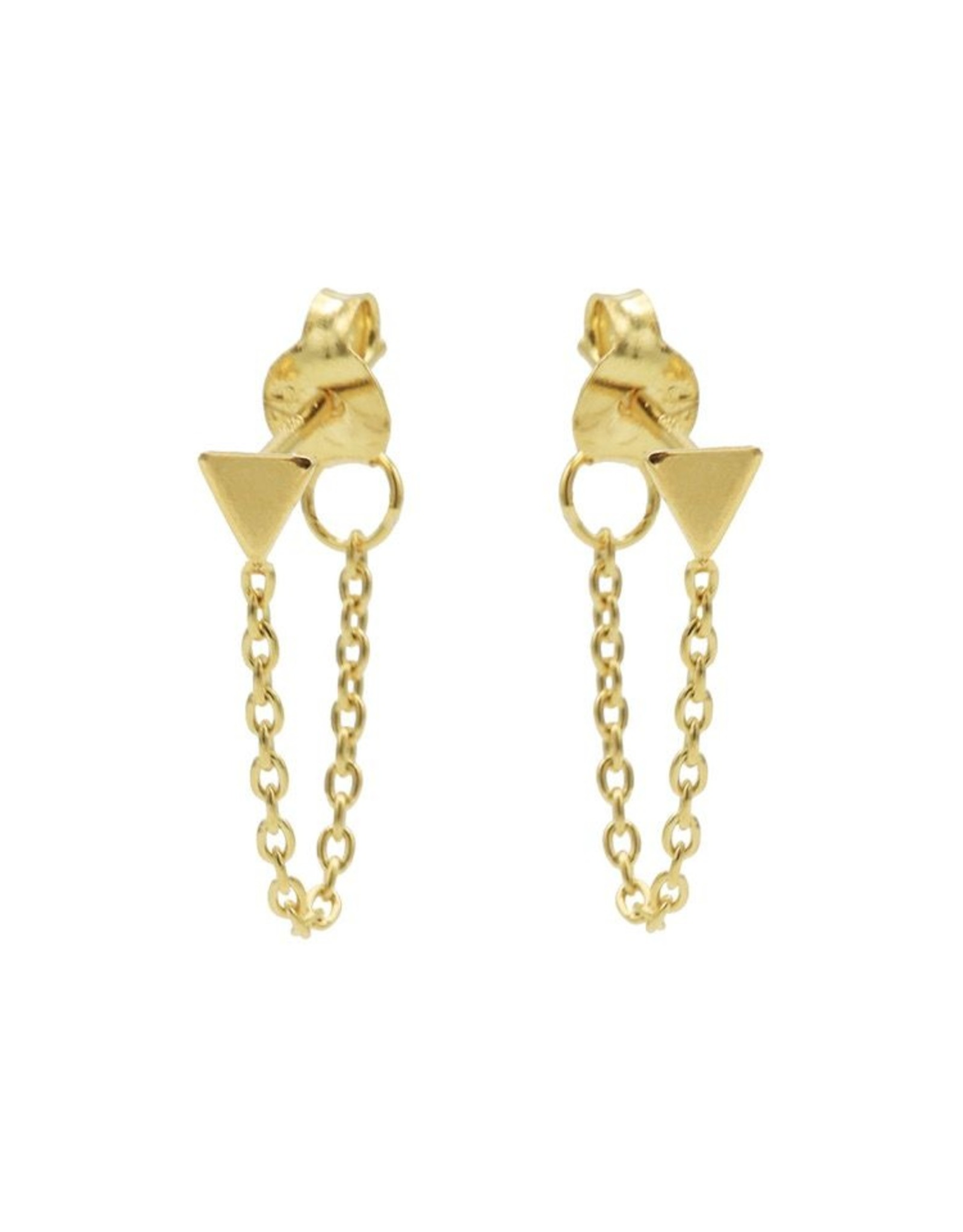 Karma Chain Triangle Goldplated Set