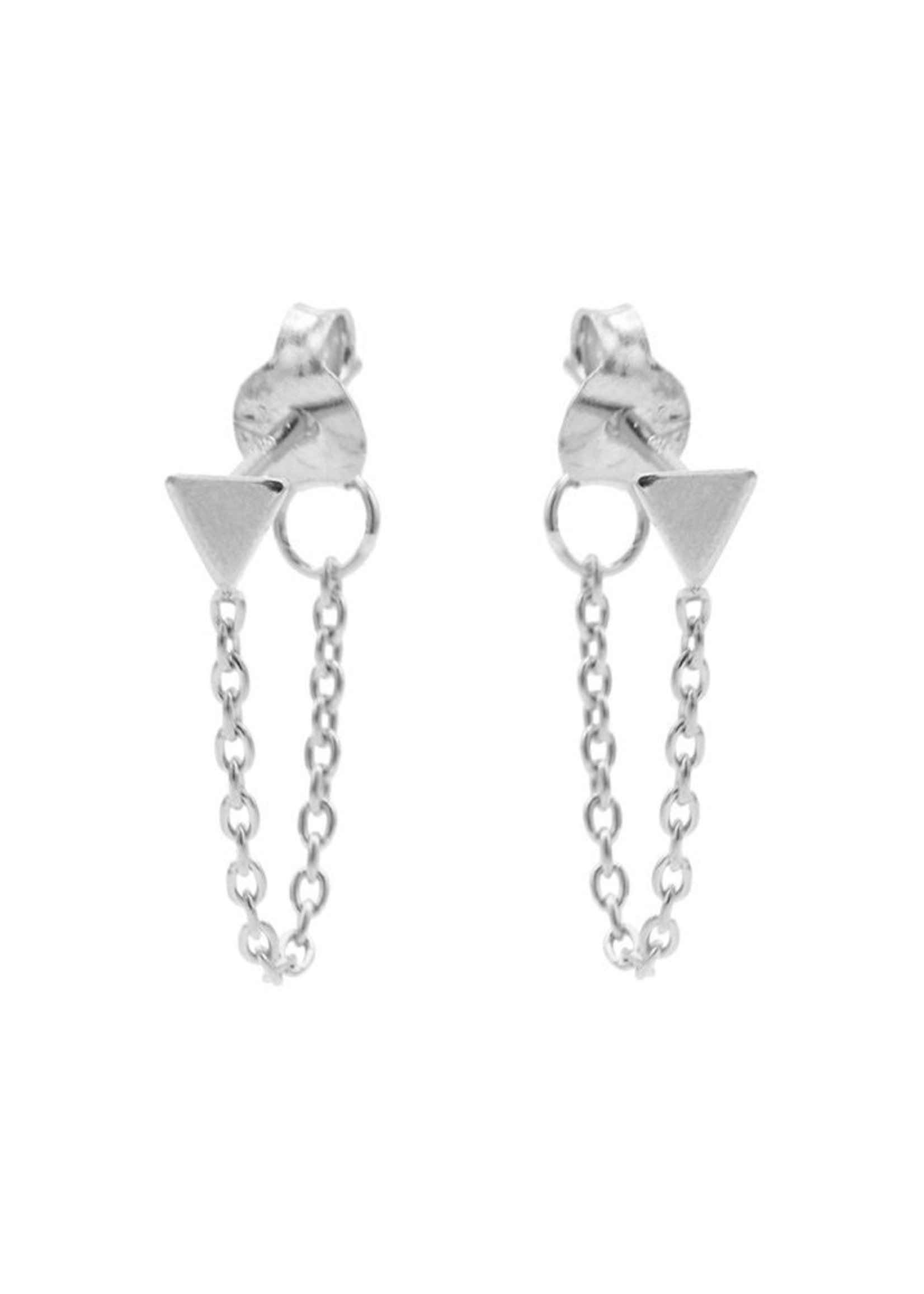 Karma Chain Triangle Silver Set