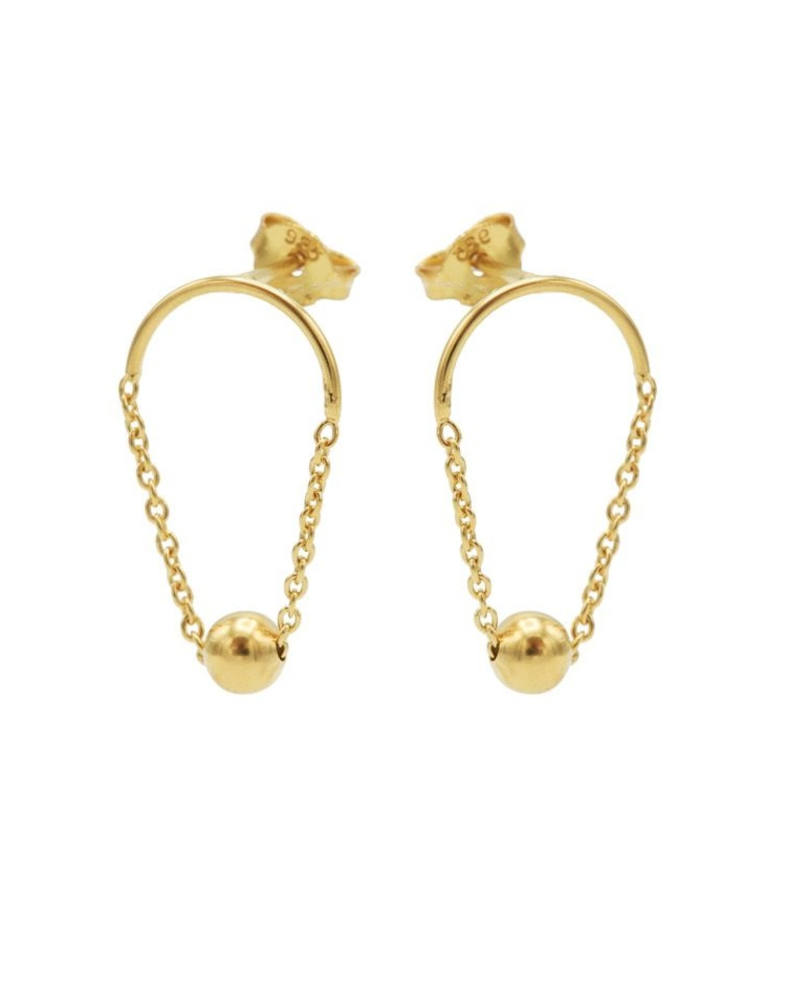 Karma Chain Hoop Dot Goldplated Set