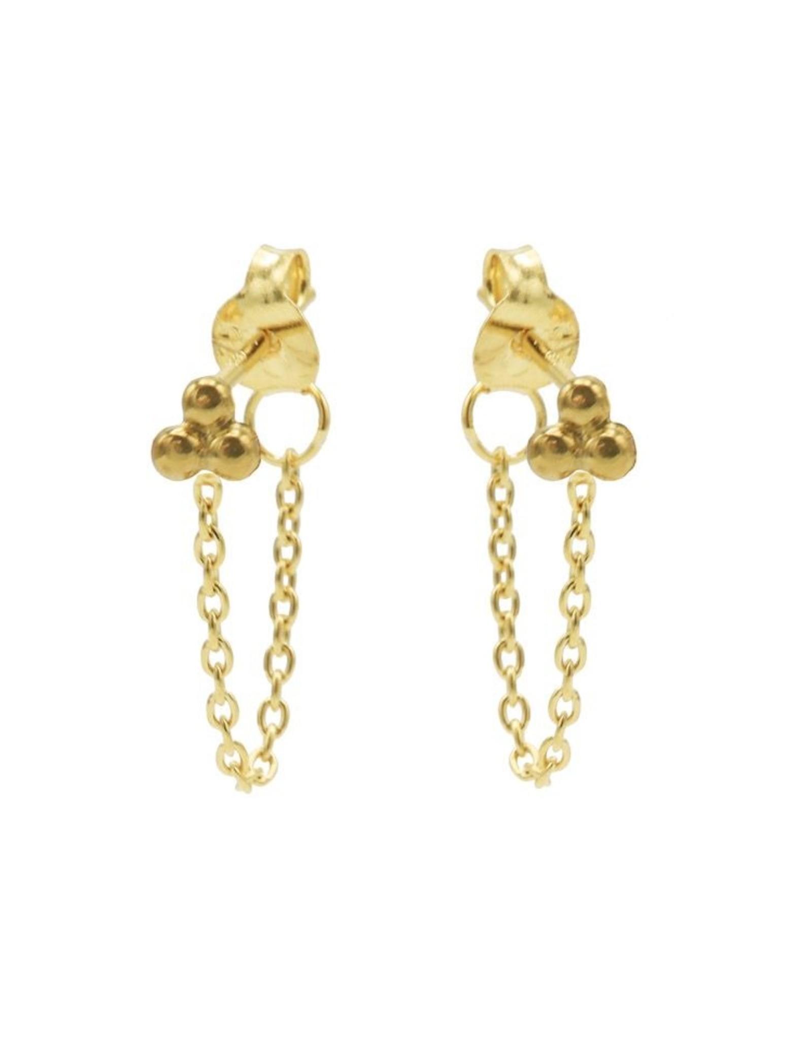 Karma Chain Triple Dots Goldplated Set