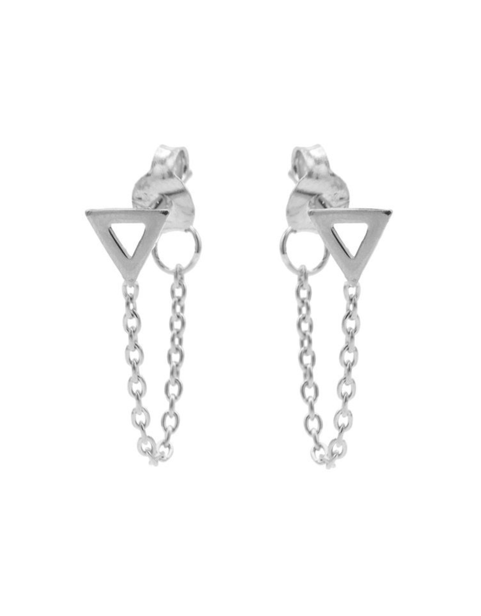 Karma Chain Open Triangle Silver Set