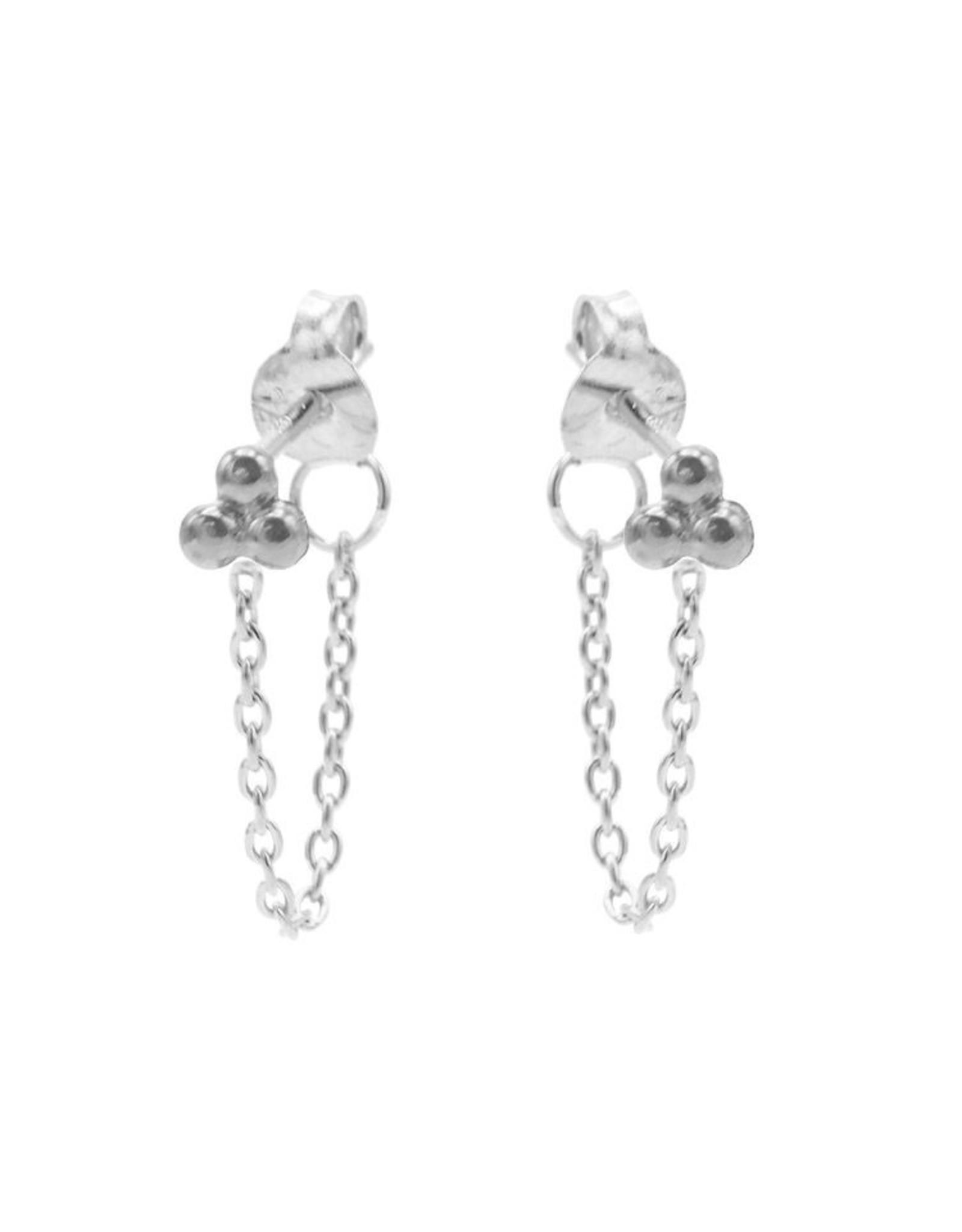 Karma Chain Triple Dots Silver Set