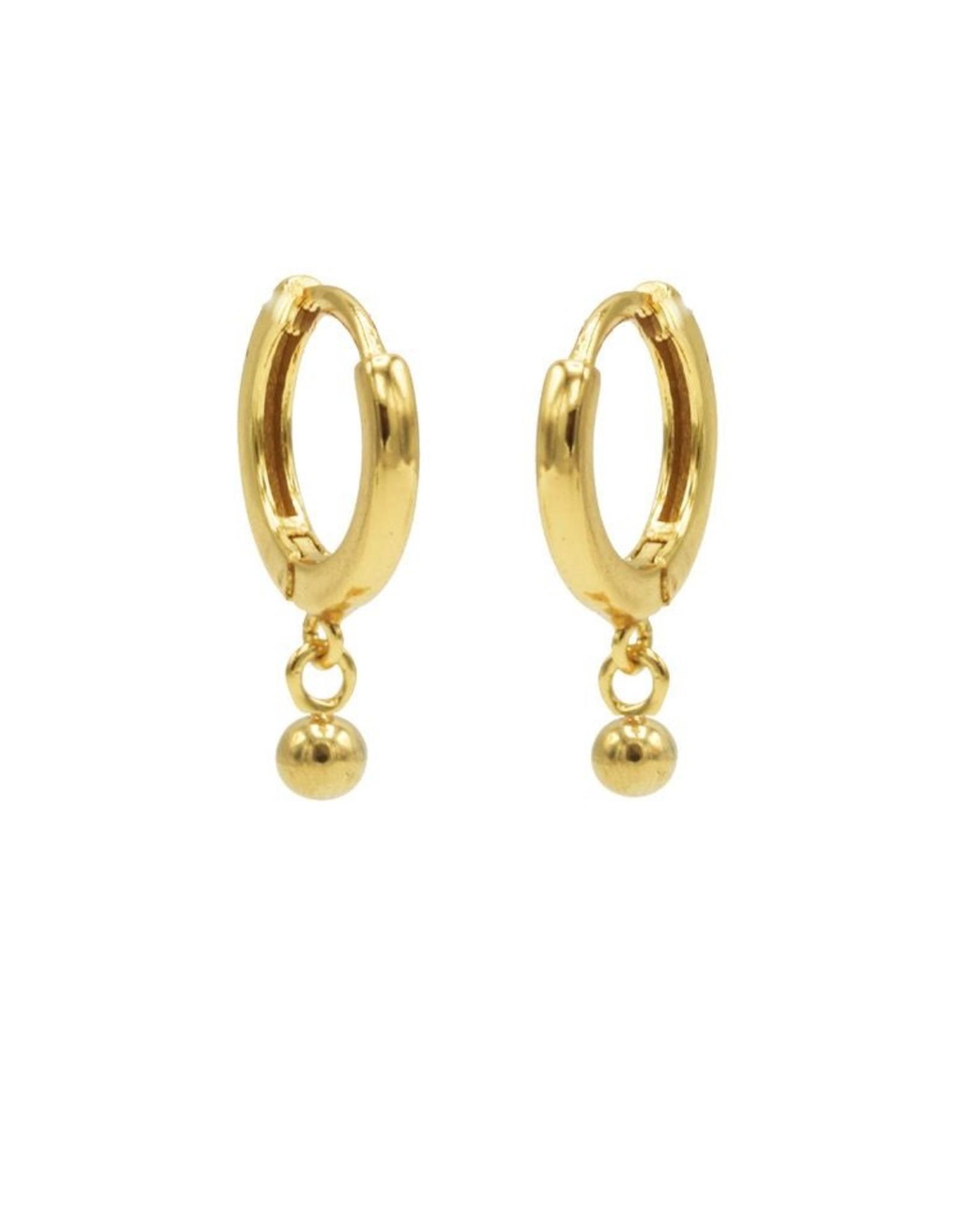 Karma Hinged Hoops Symbols Mini Ball Goldlated Set