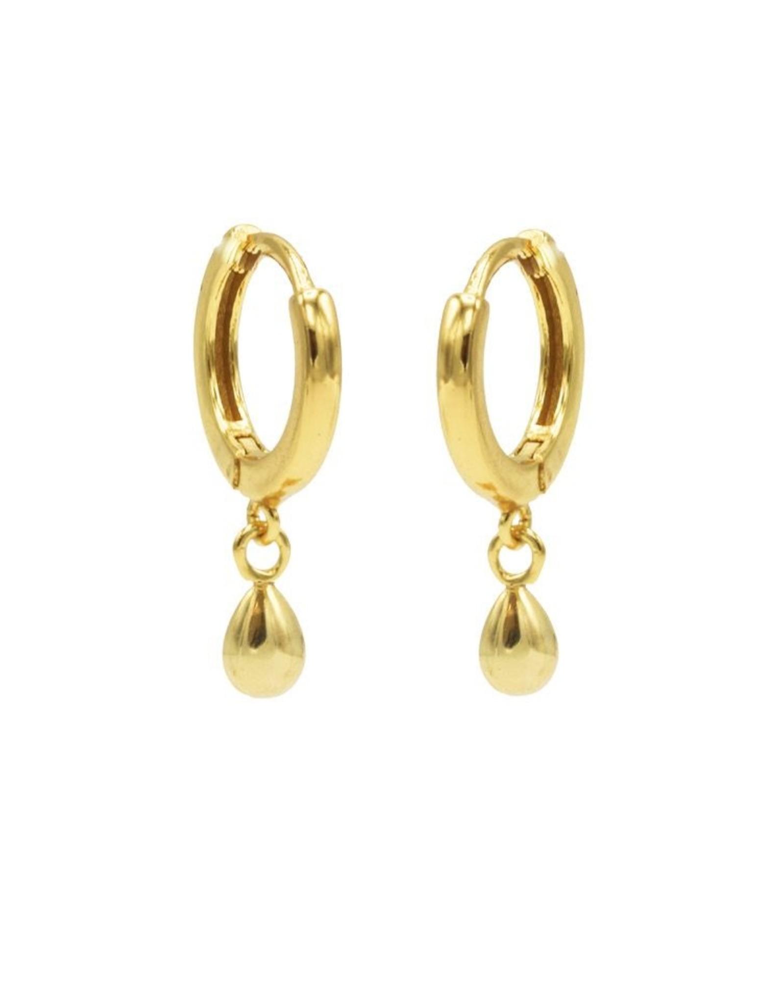 Karma Hinged Hoops Symbols Drop Goldplated Set