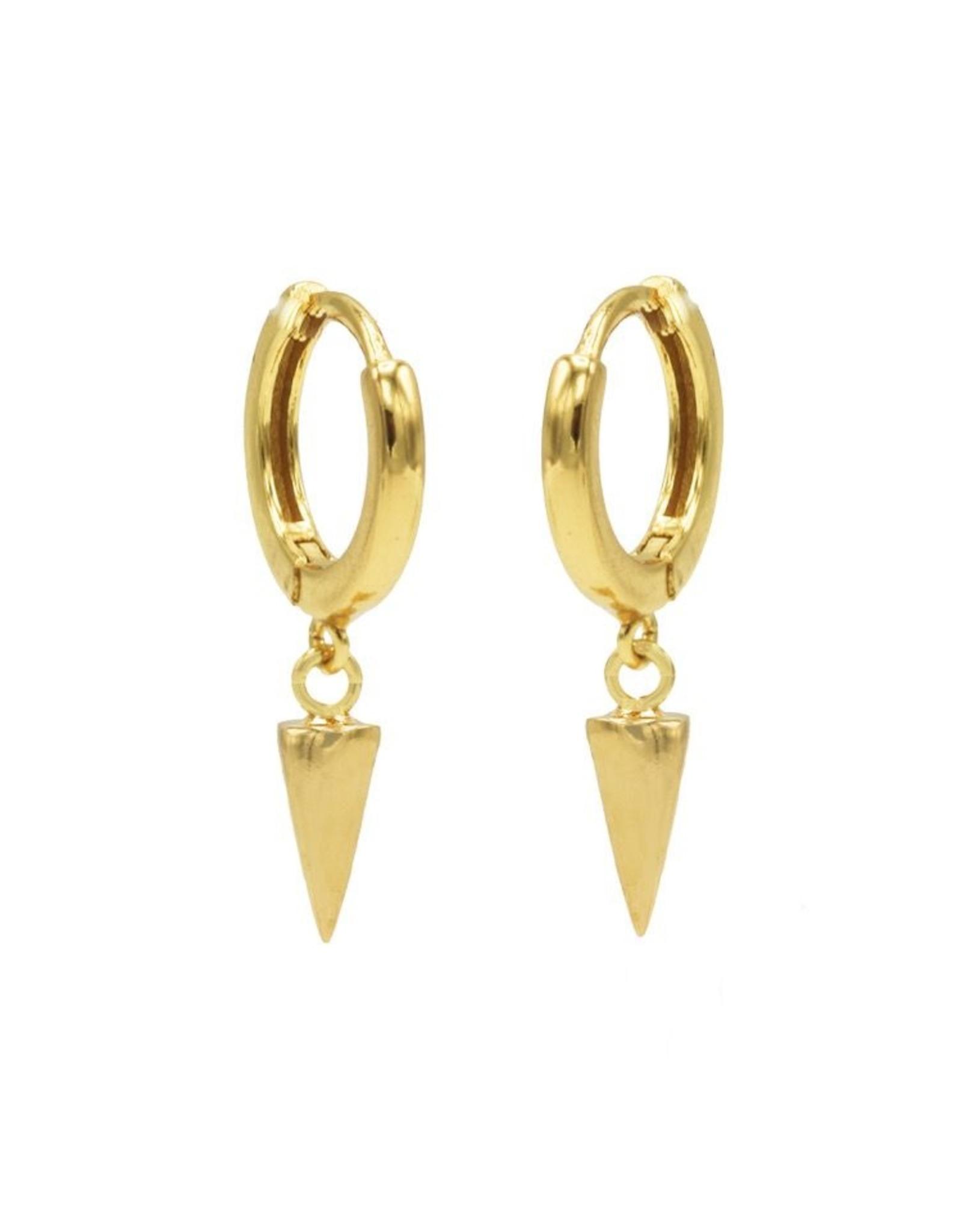 Karma Hinged Hoops Symbols Round Cone Goldplated Set
