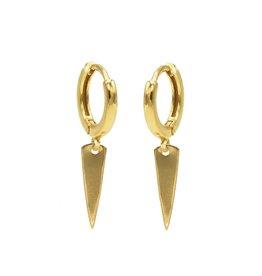 Karma Hinged Hoops Symbols Cone Goldplated Set