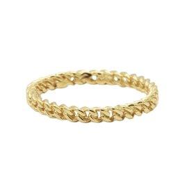 Karma Ring Chain Goldplated 56