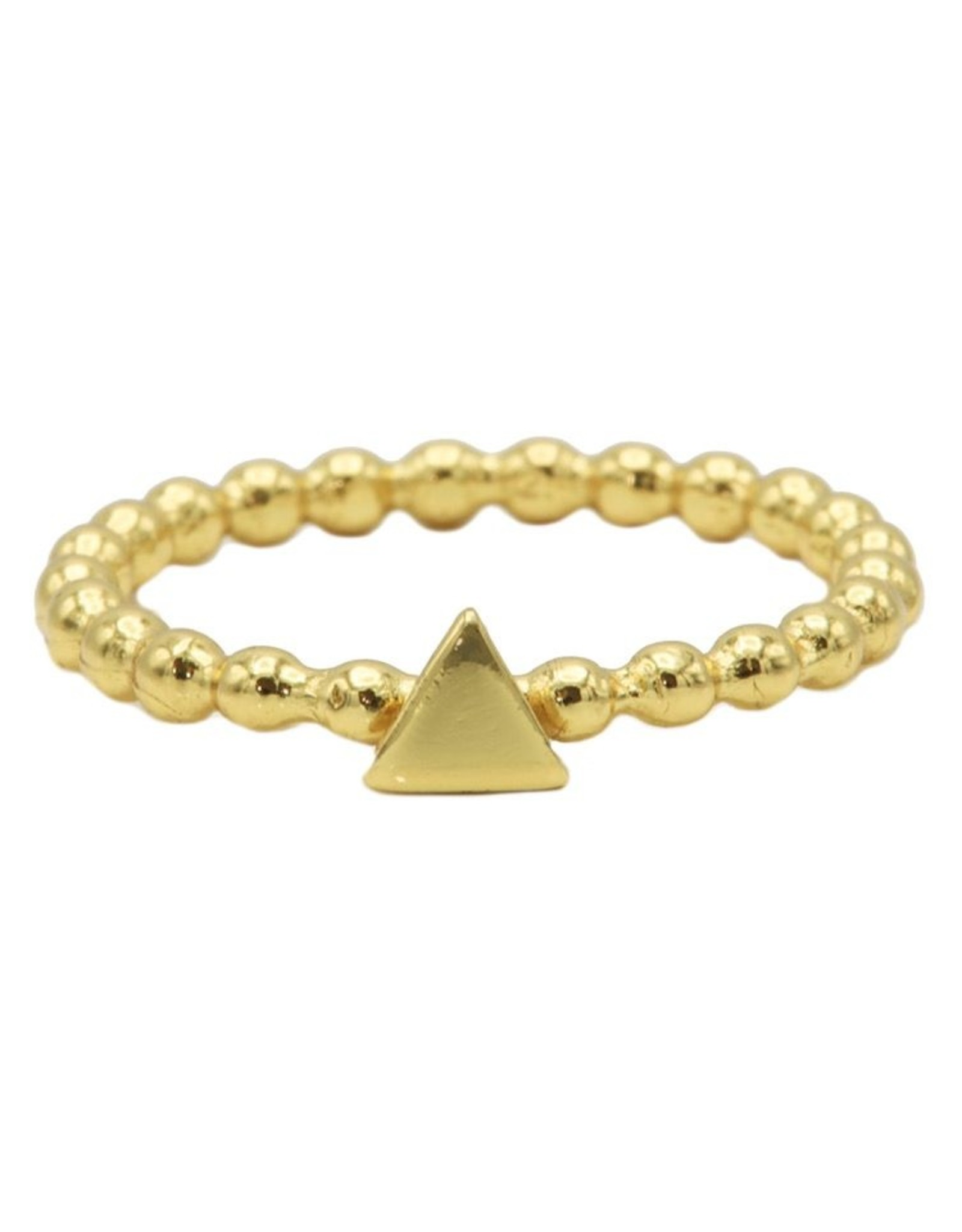 Karma Ring Dots Triangle Goldplated 50