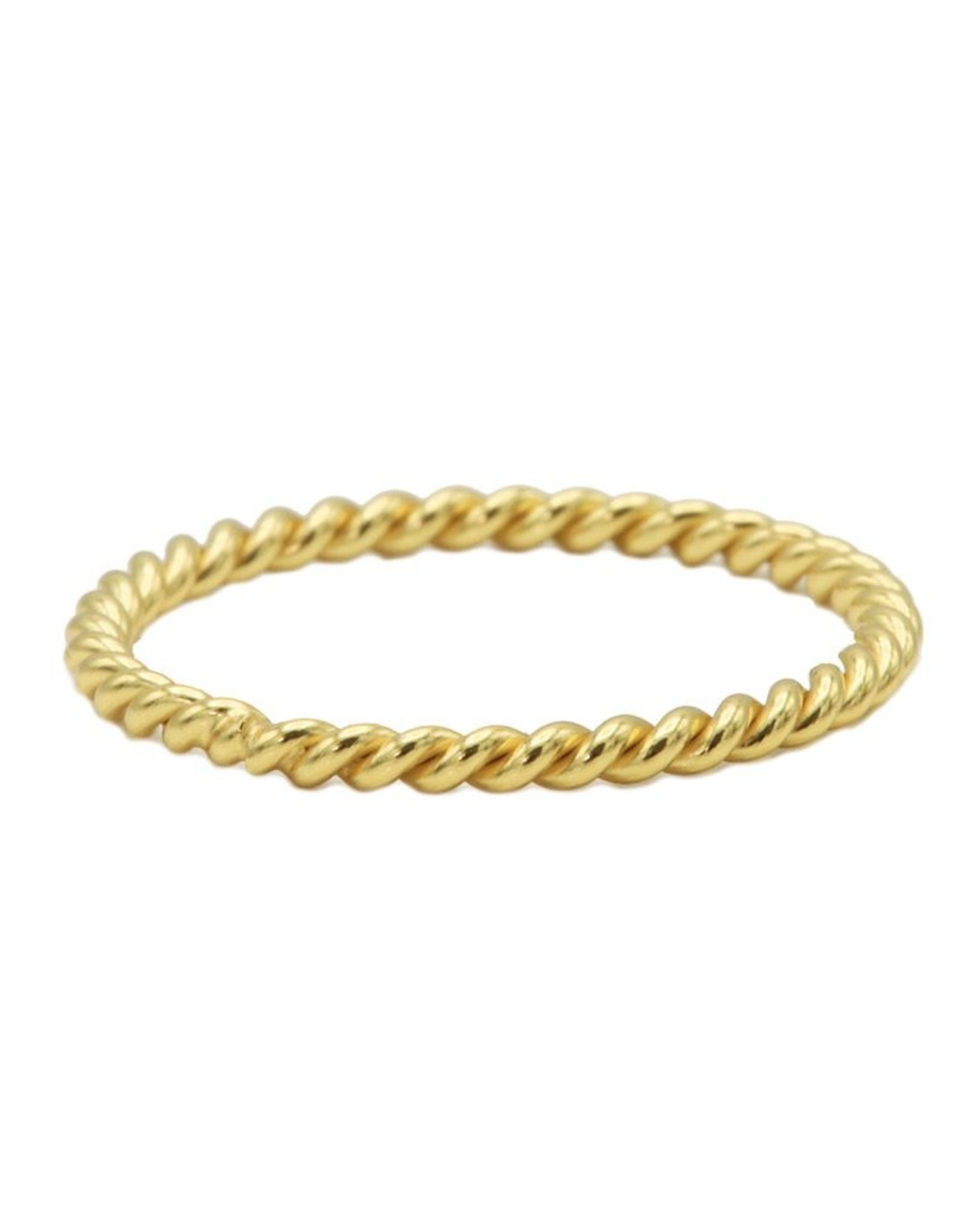 Karma Ring Twisted Plain Goldplated 56