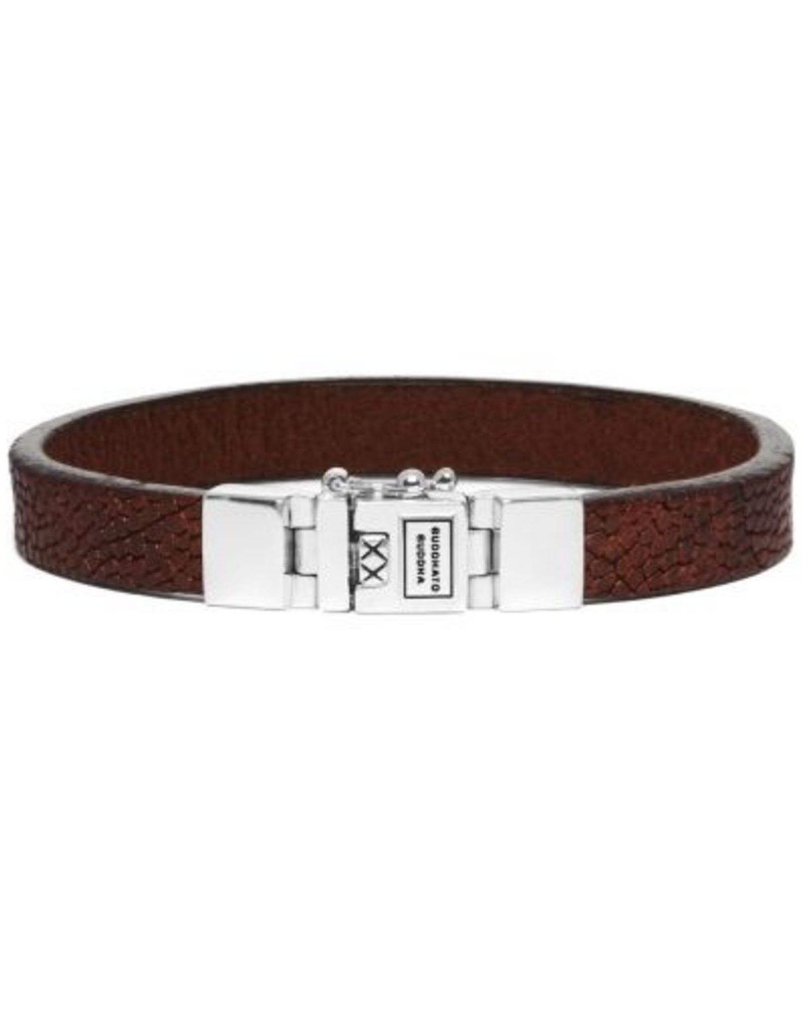 Buddha to Buddha 925 Sterling Zilveren 186co Essential Leather Texture Cognac