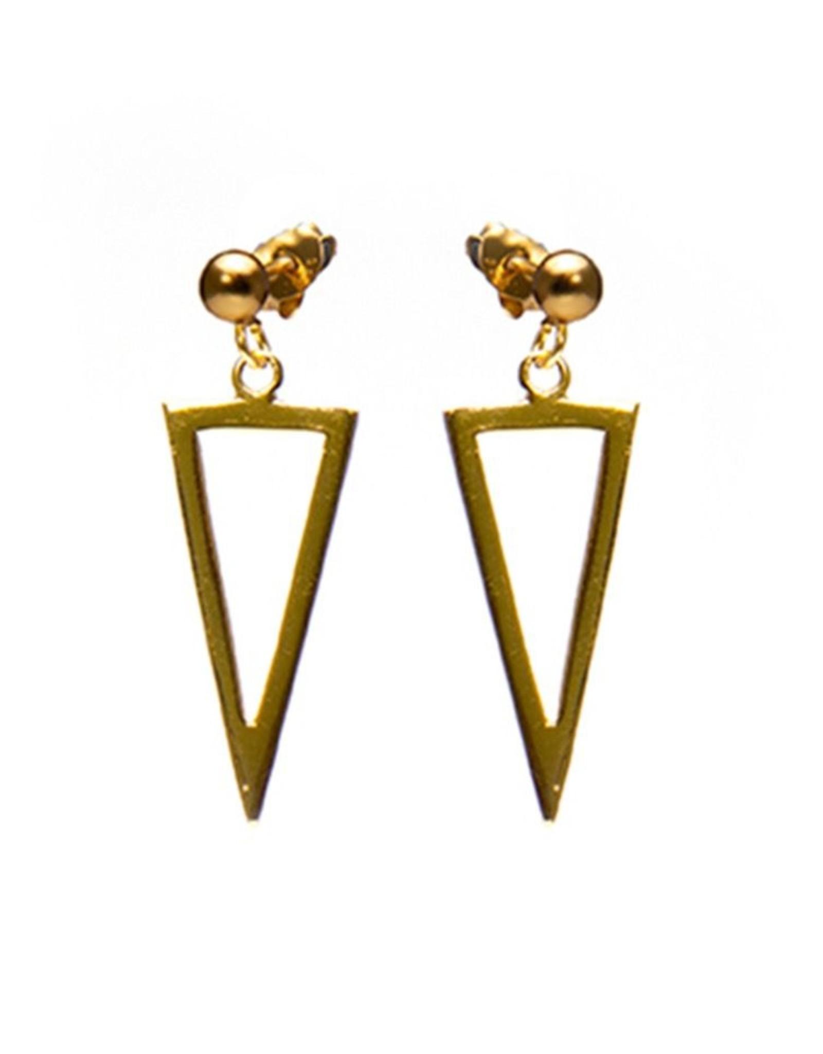 Karma Symbols XL Dot Long Open Triangle Goldplated Set