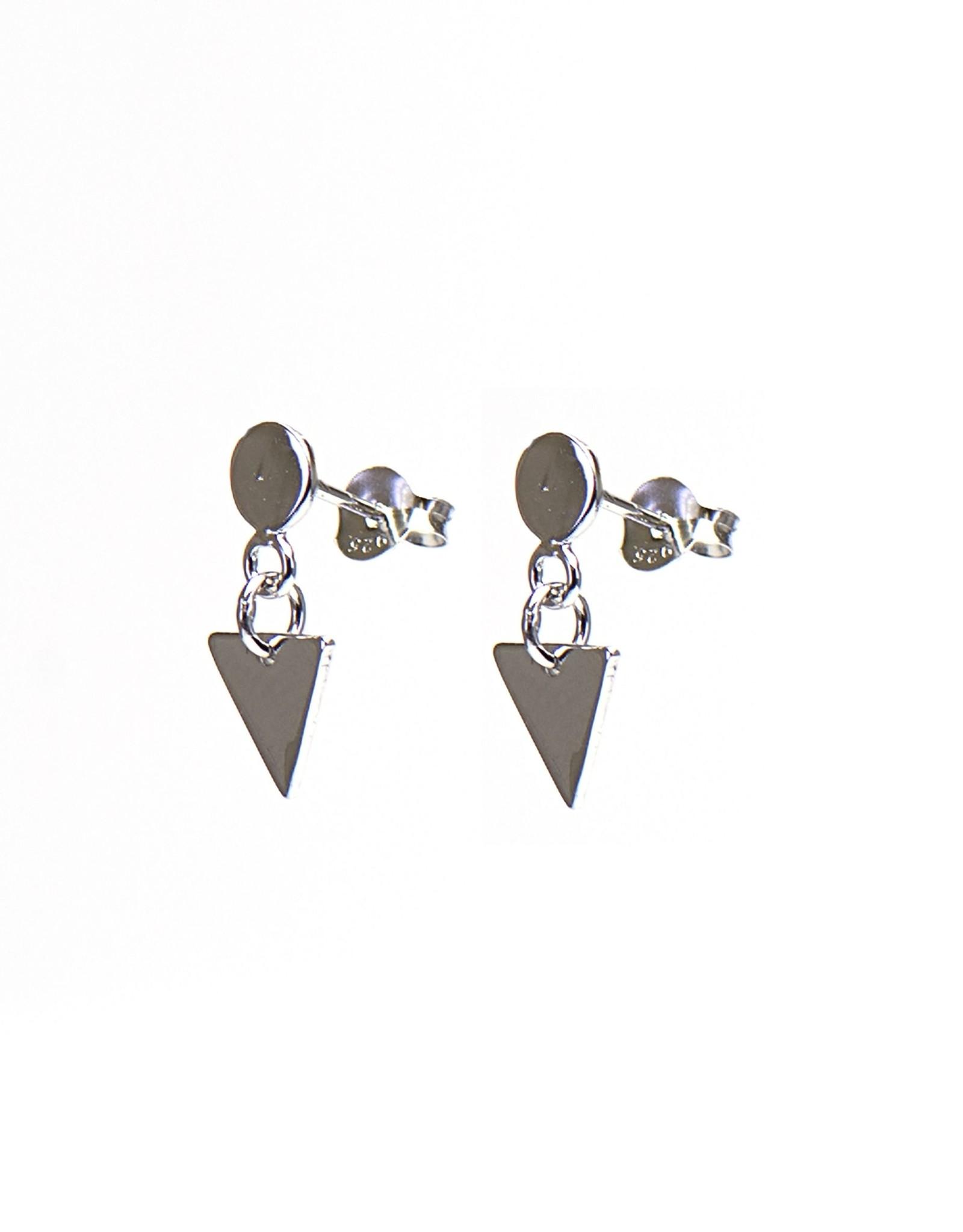 Karma Karma Symbols XL disc stud hanging triangle silver Set