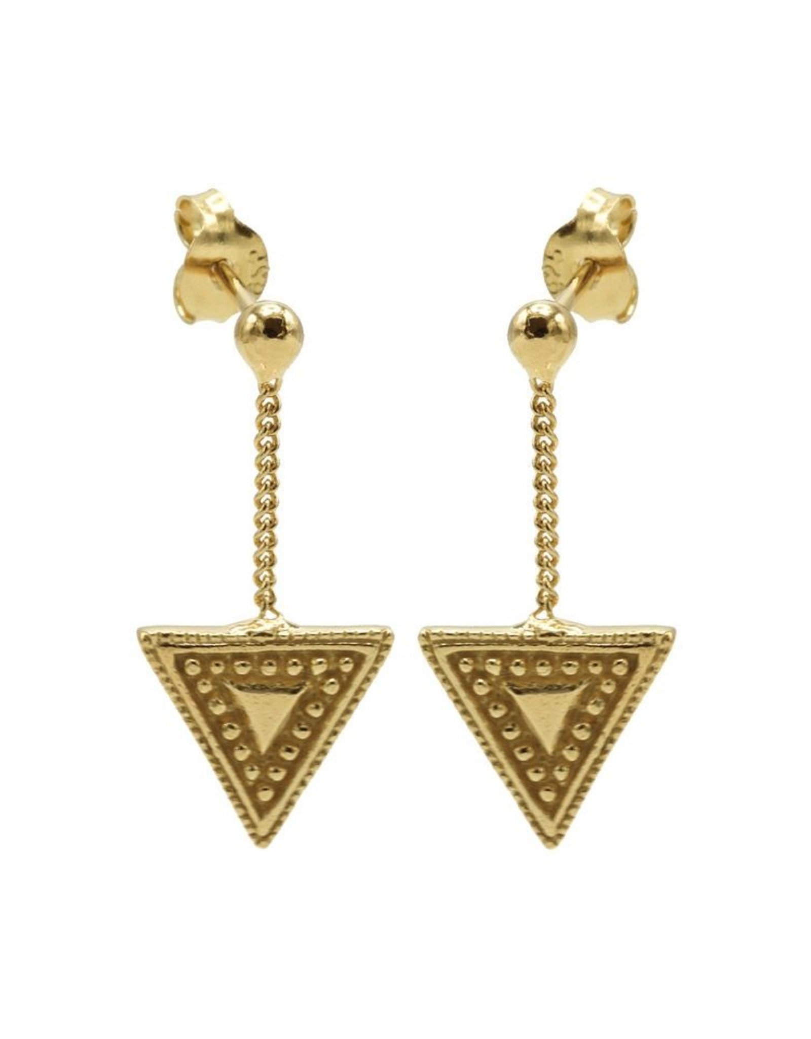 Karma Chainstuds Dots Line Triangle Goldplated  Set