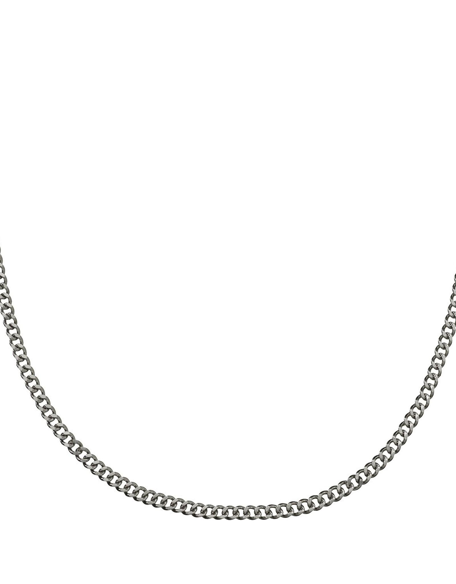 Croyez Silver Curbchain 65cm