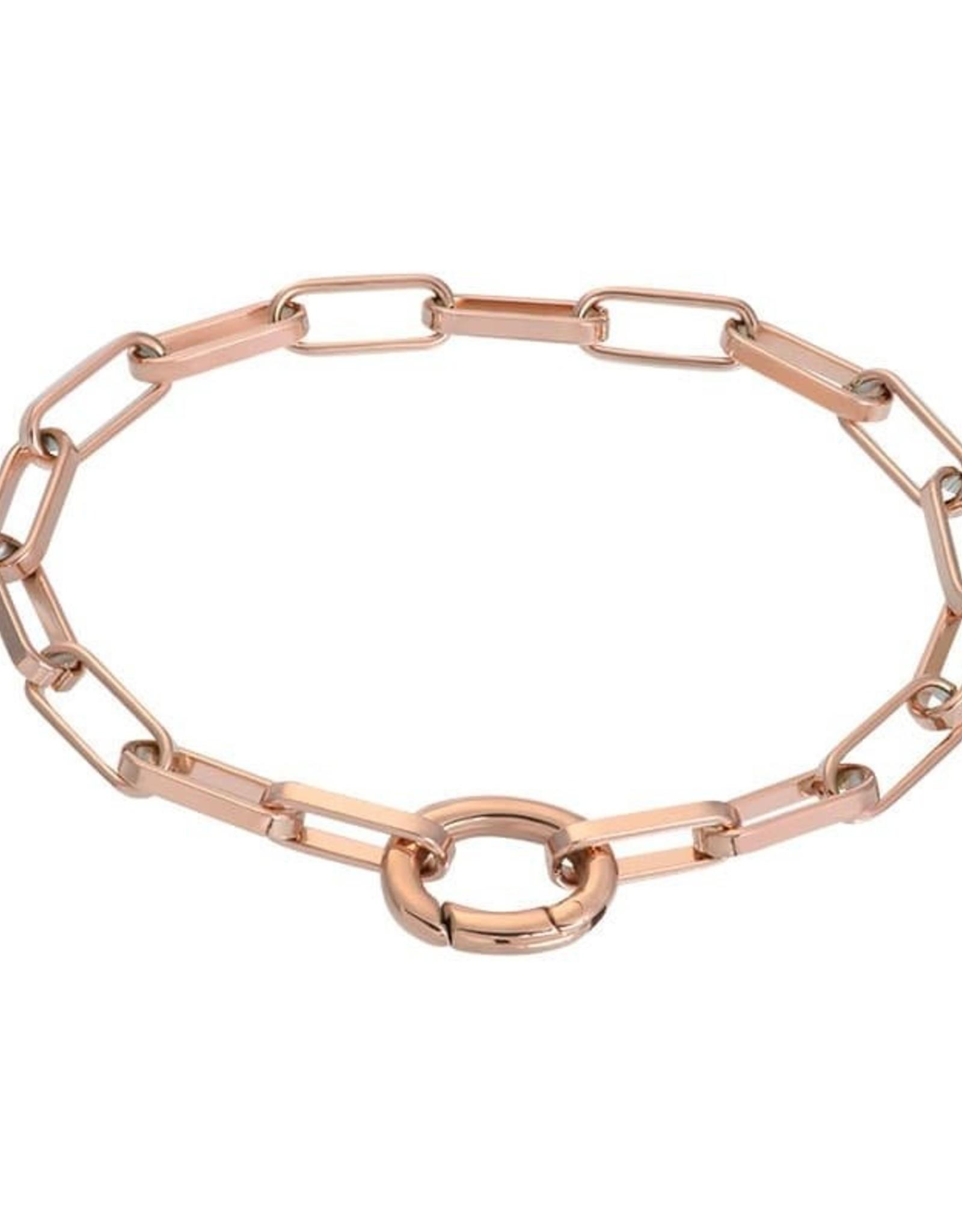 Rose Bracelet Square Chain