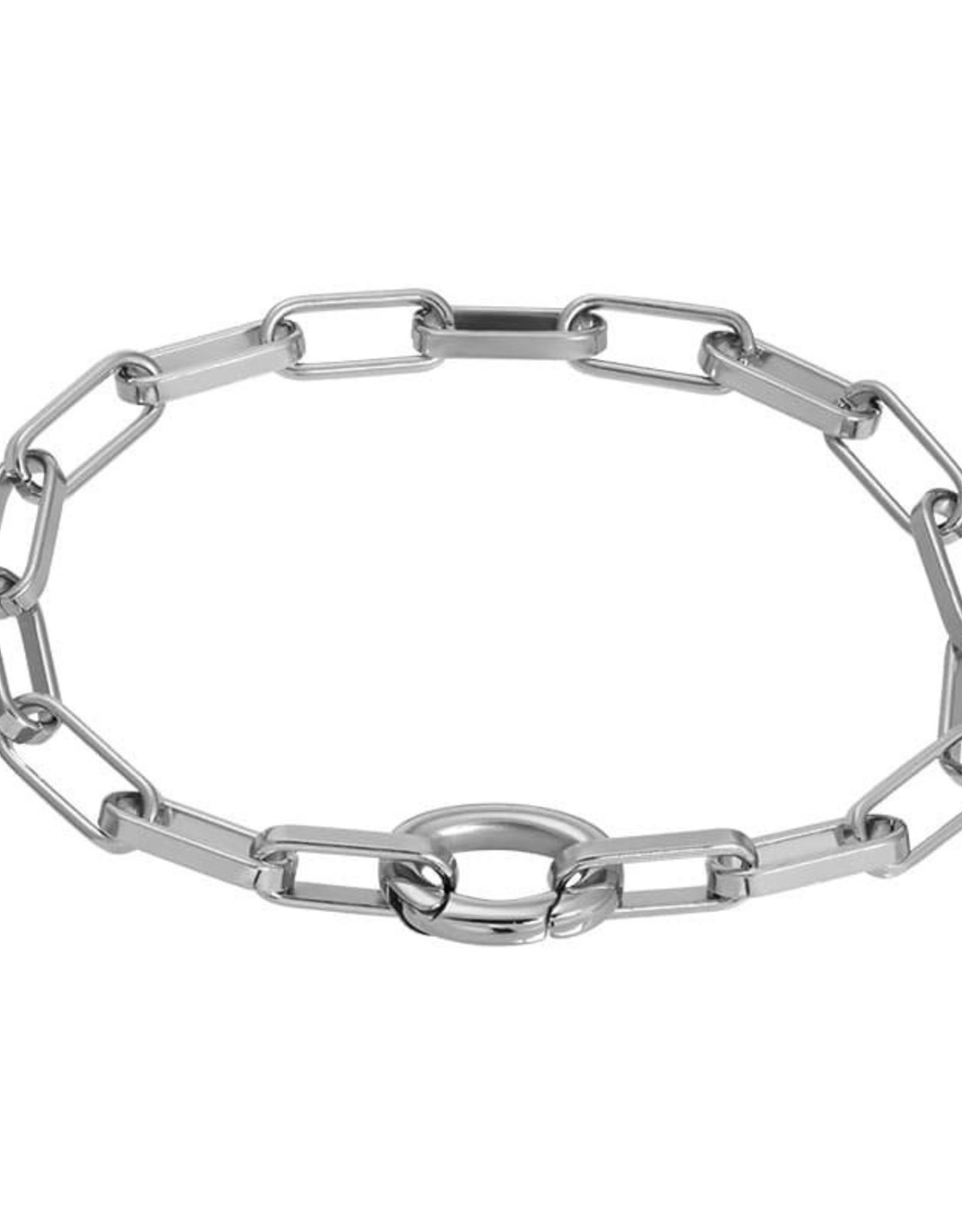 Silver Bracelet Square Chain