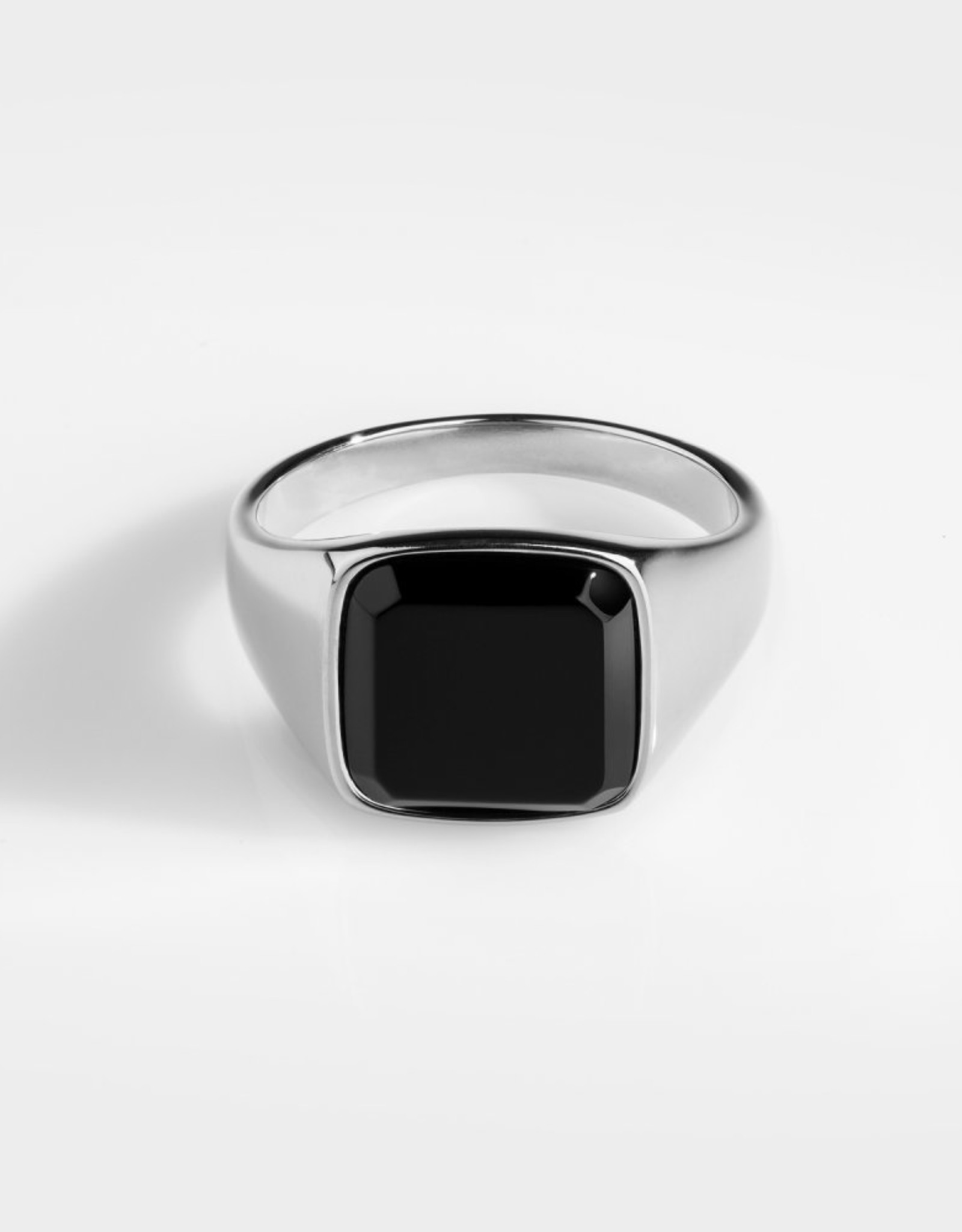 Northern Legacy Black Onyx Signature- Silver Tone Ring Mt 20