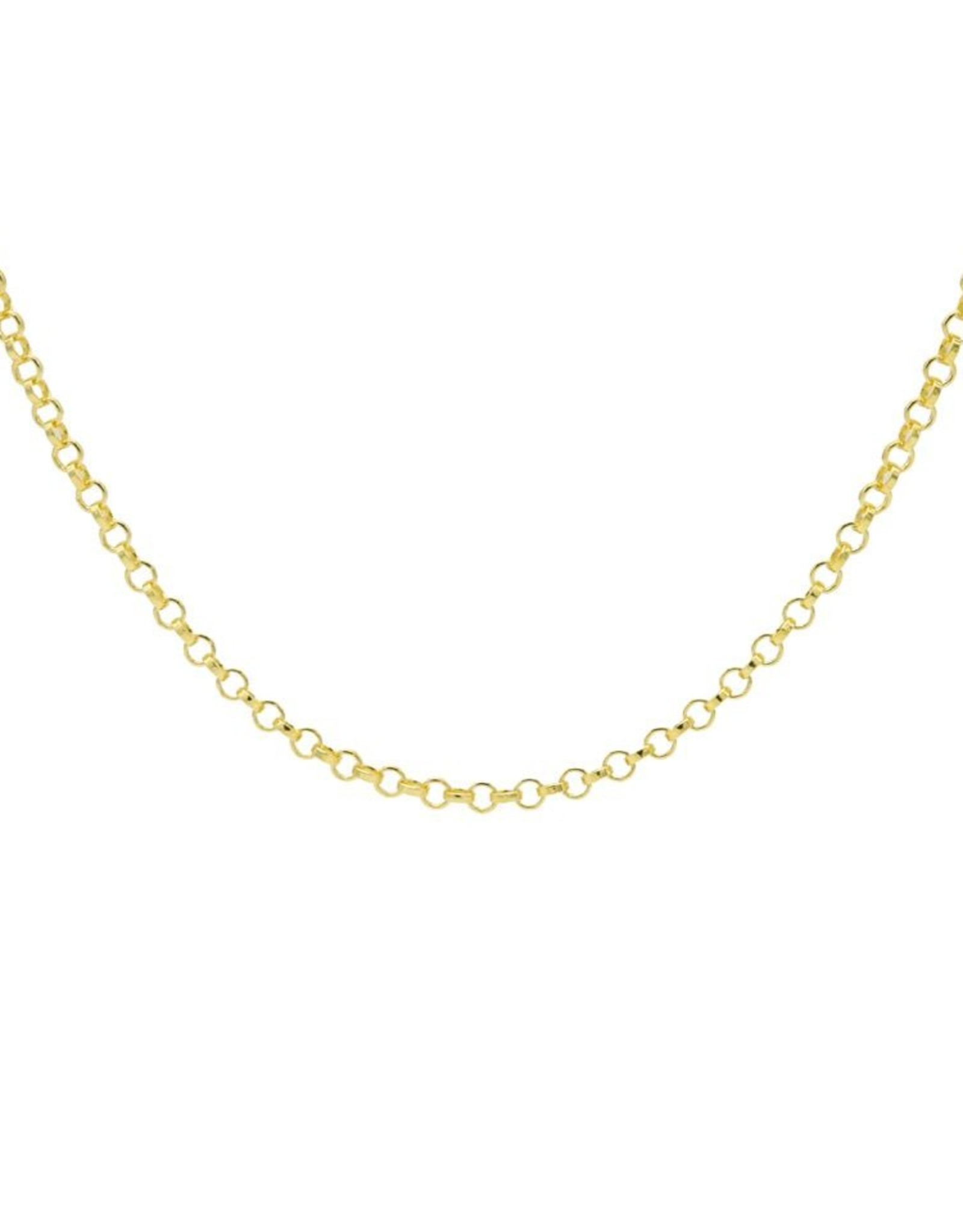 Karma Necklace Square Chain Goldplated