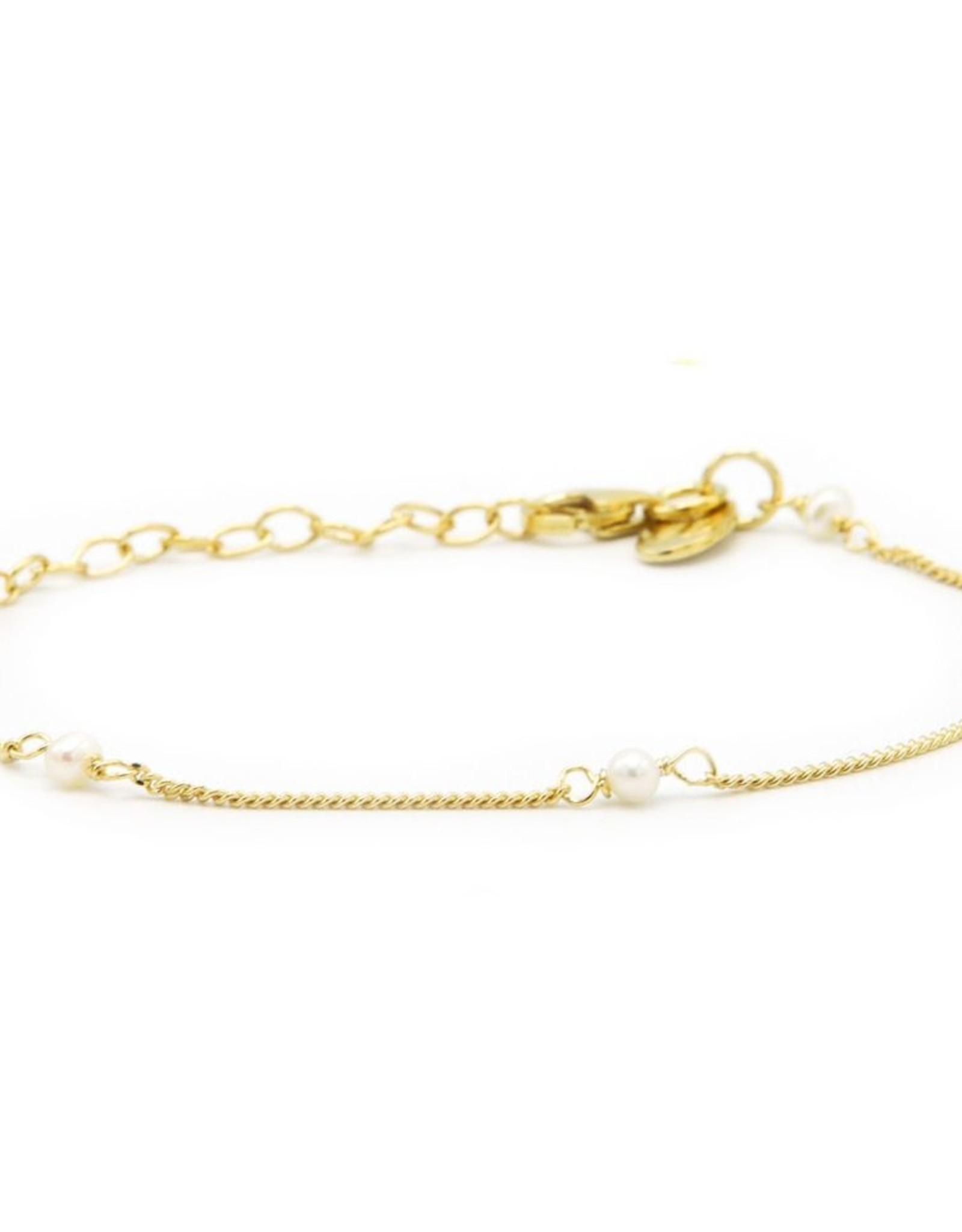Karma Bracelet Pearls Goldplated