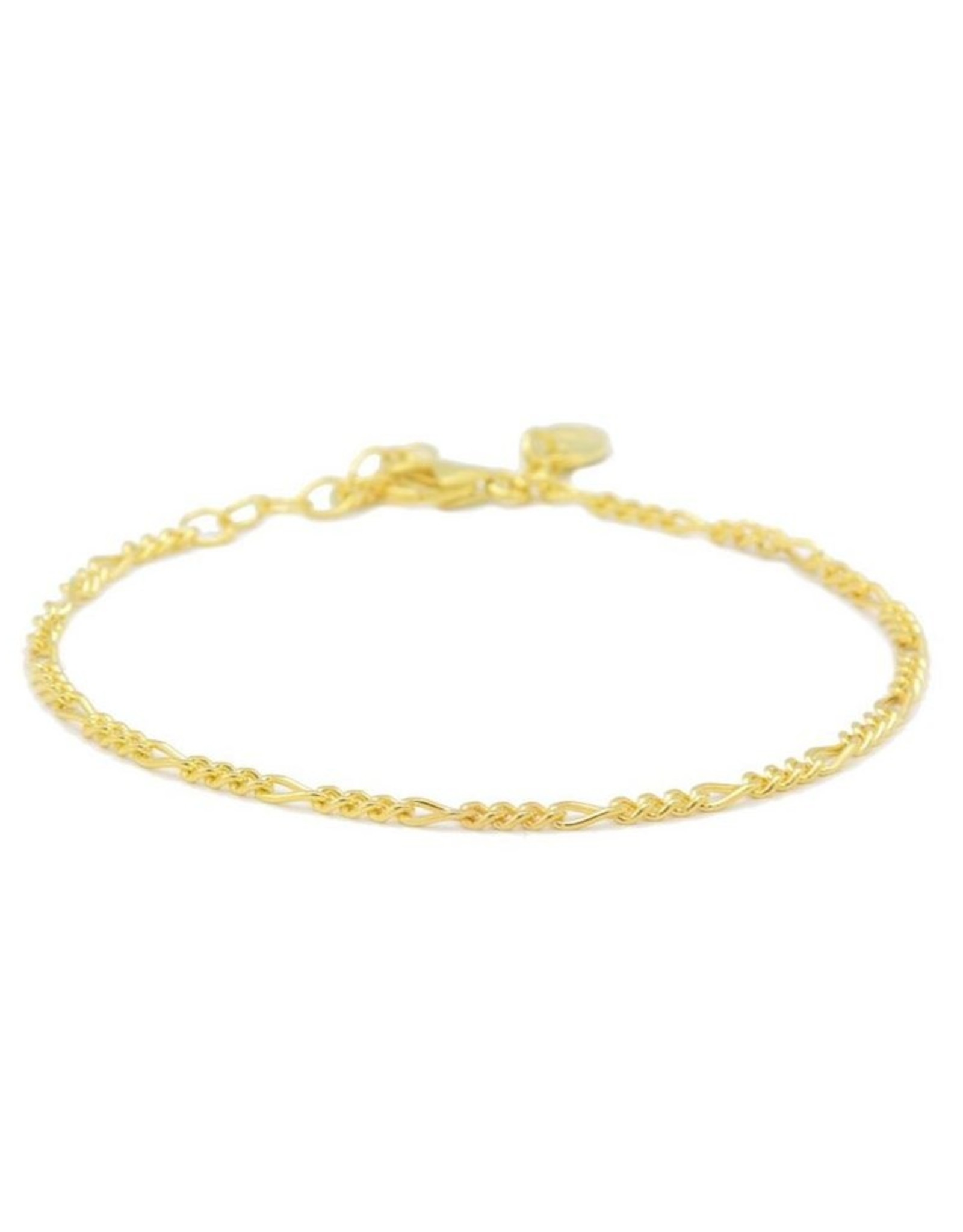 Karma Bracelet Figaro Goldplated