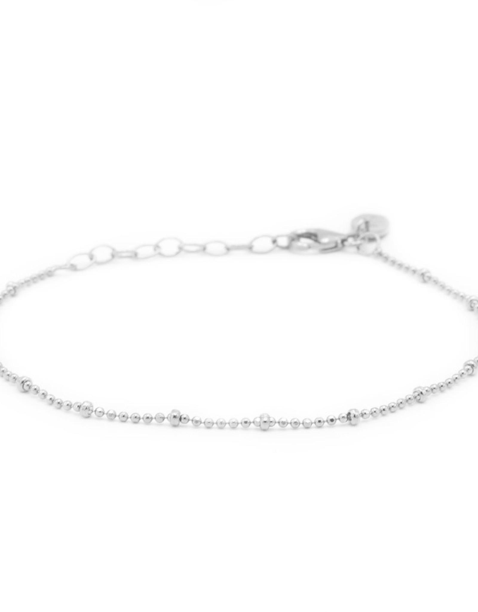 Karma Bracelet Dots Diamonds Silver
