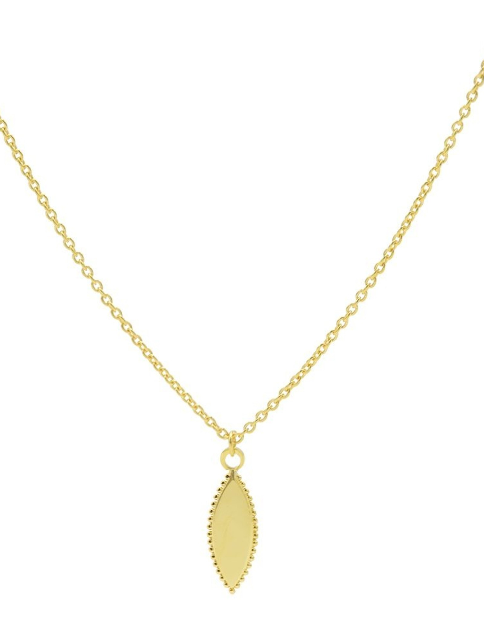 Karma Necklace Pointy Dots Oval Goldplated 50-57CM