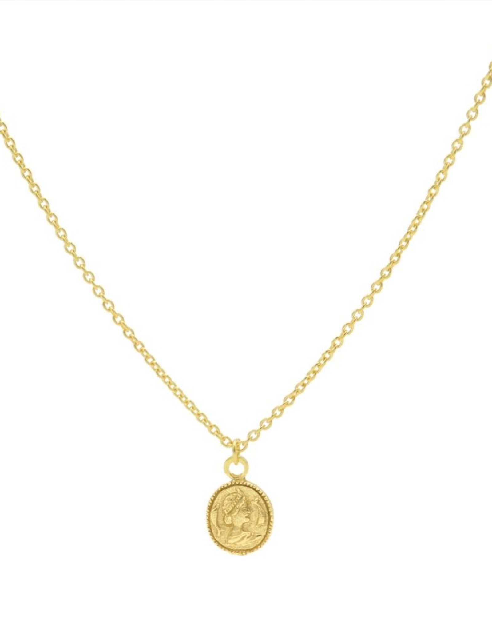 Karma Necklace Coin Goldplated 50-57CM