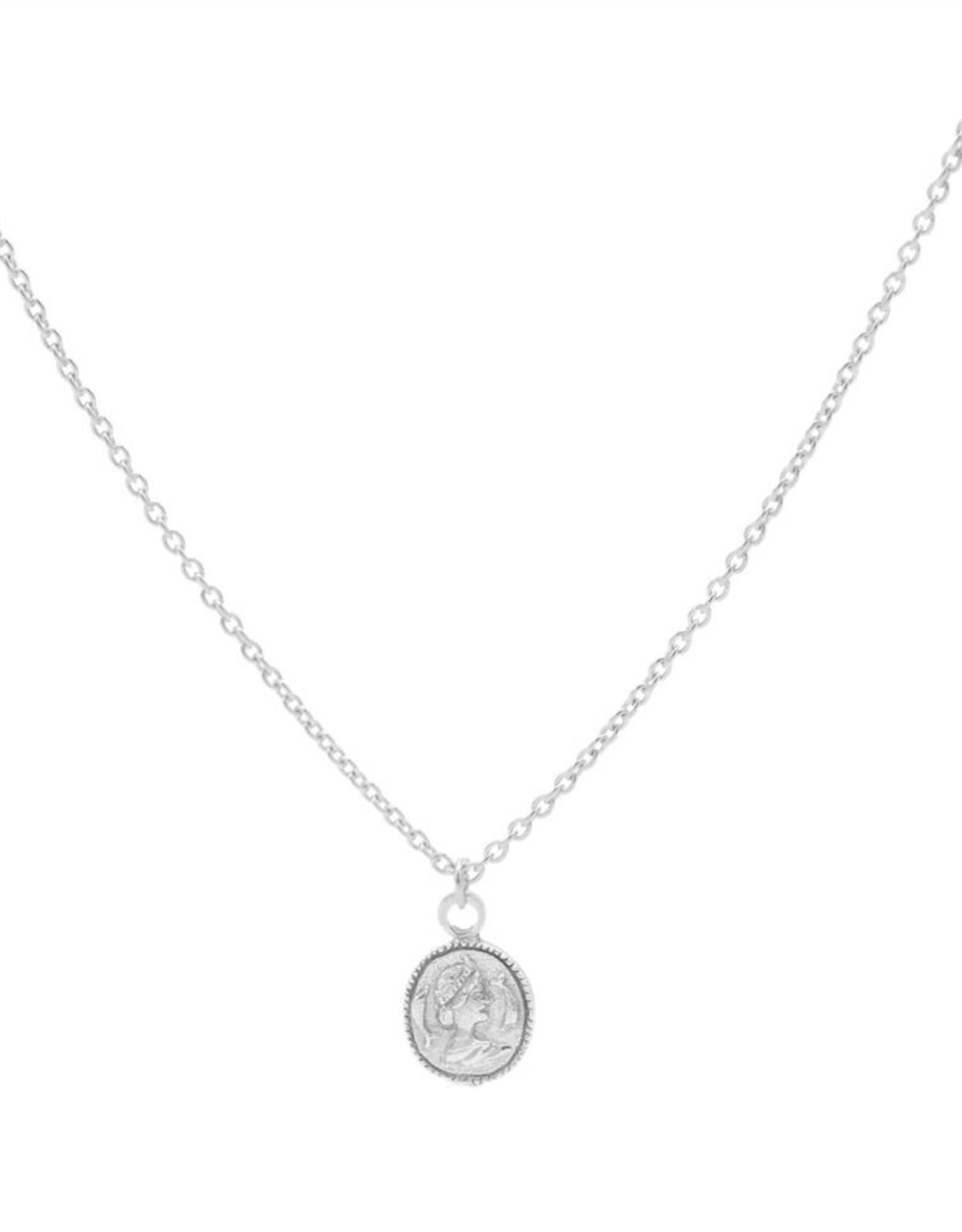 Karma Necklace Coin Silver 50-57CM