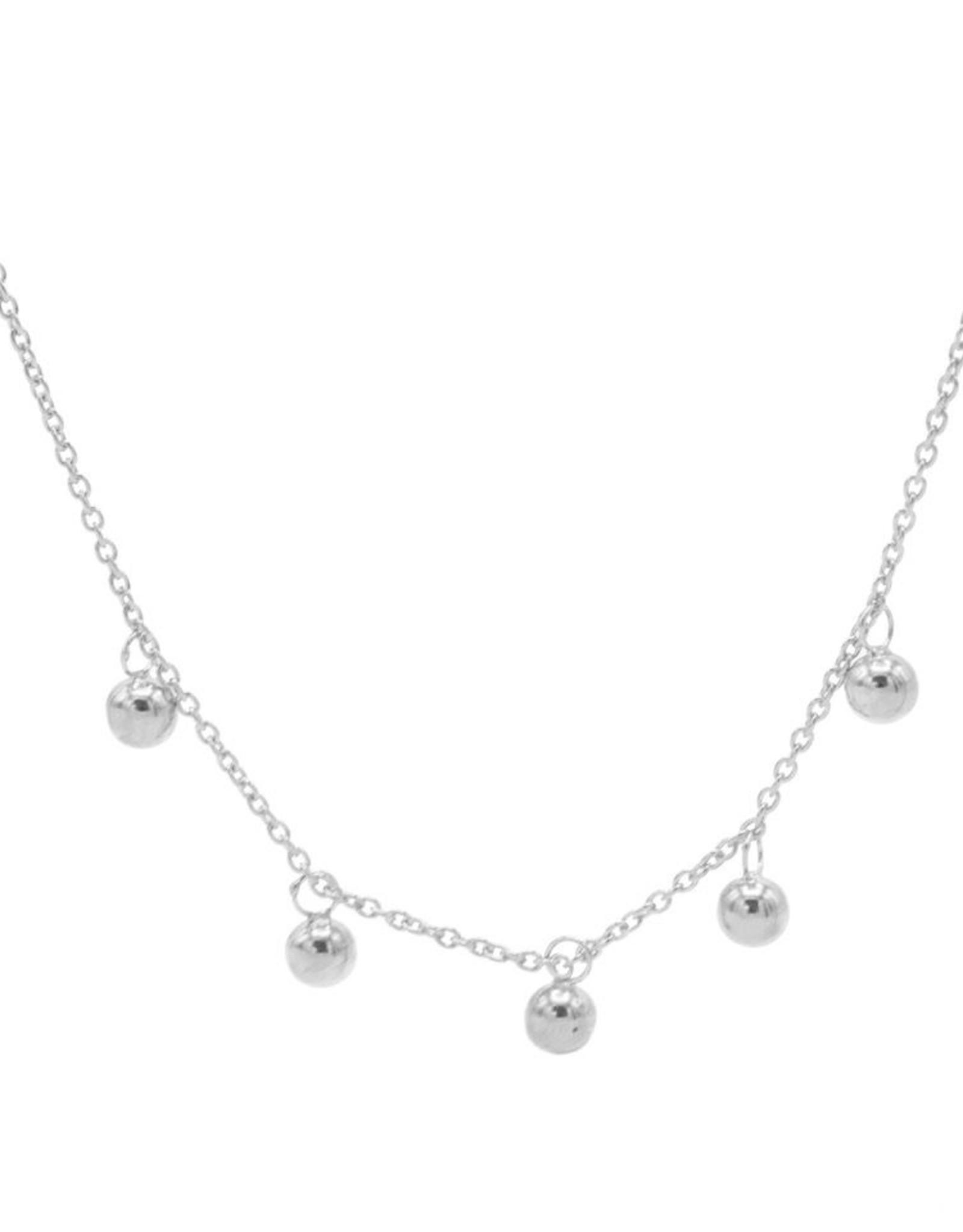 Karma Necklace Dots Silver