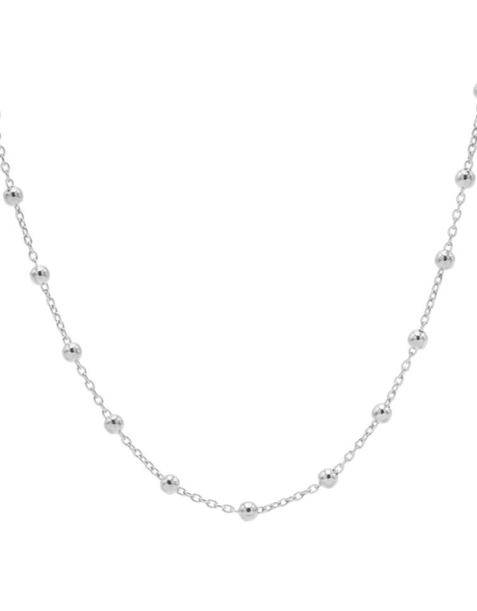 Karma Necklace Dots Silver 50-57CM