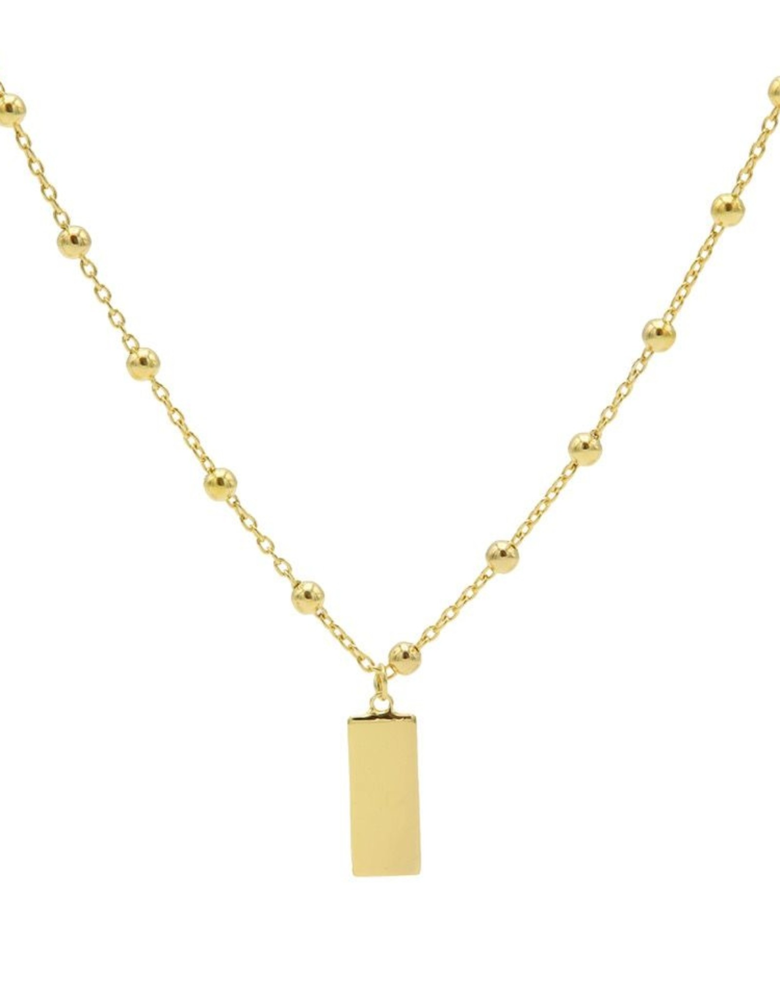 Karma Necklace Dots Rectangle Goldplated 50-57CM