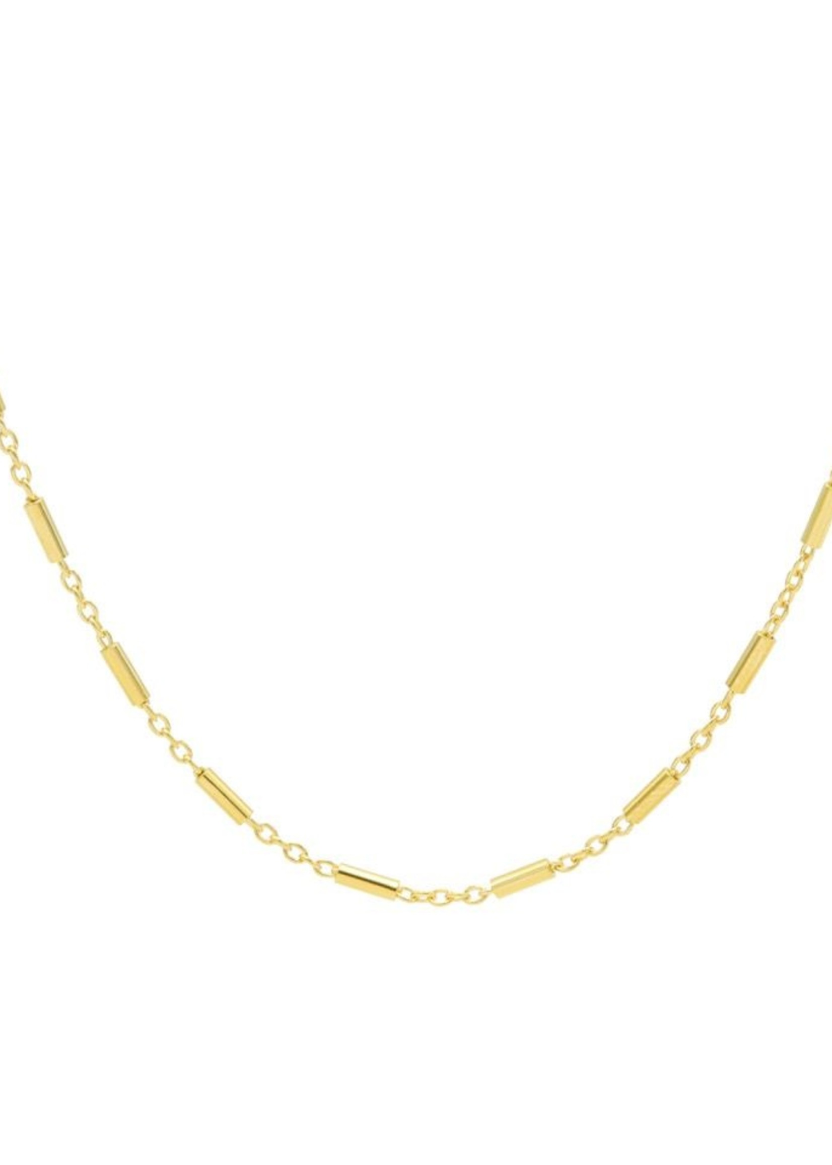 Karma Necklace Tubes Goldplated