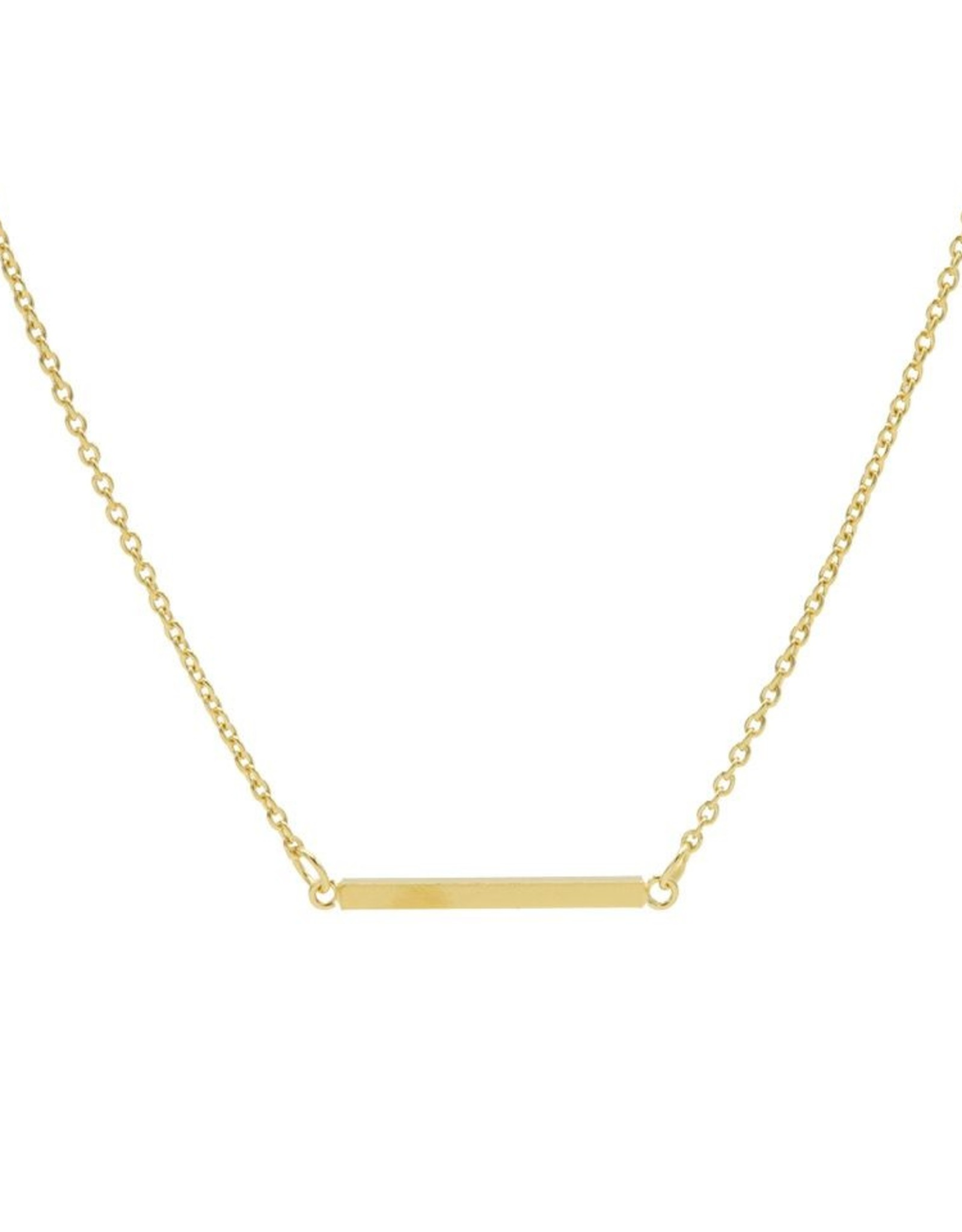 Karma Necklace Square Tube Goldplated