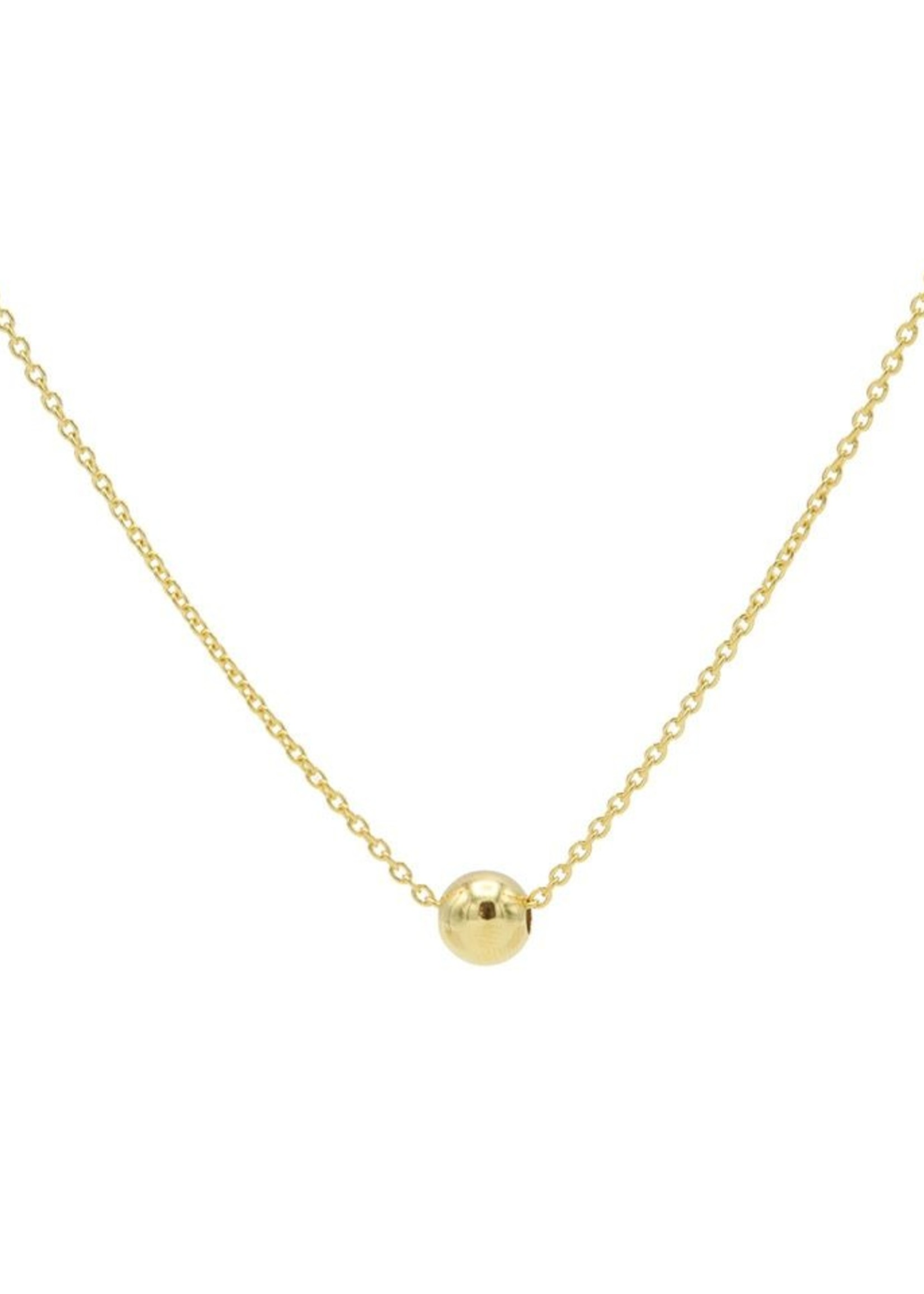 Karma Necklace Ball Goldplated
