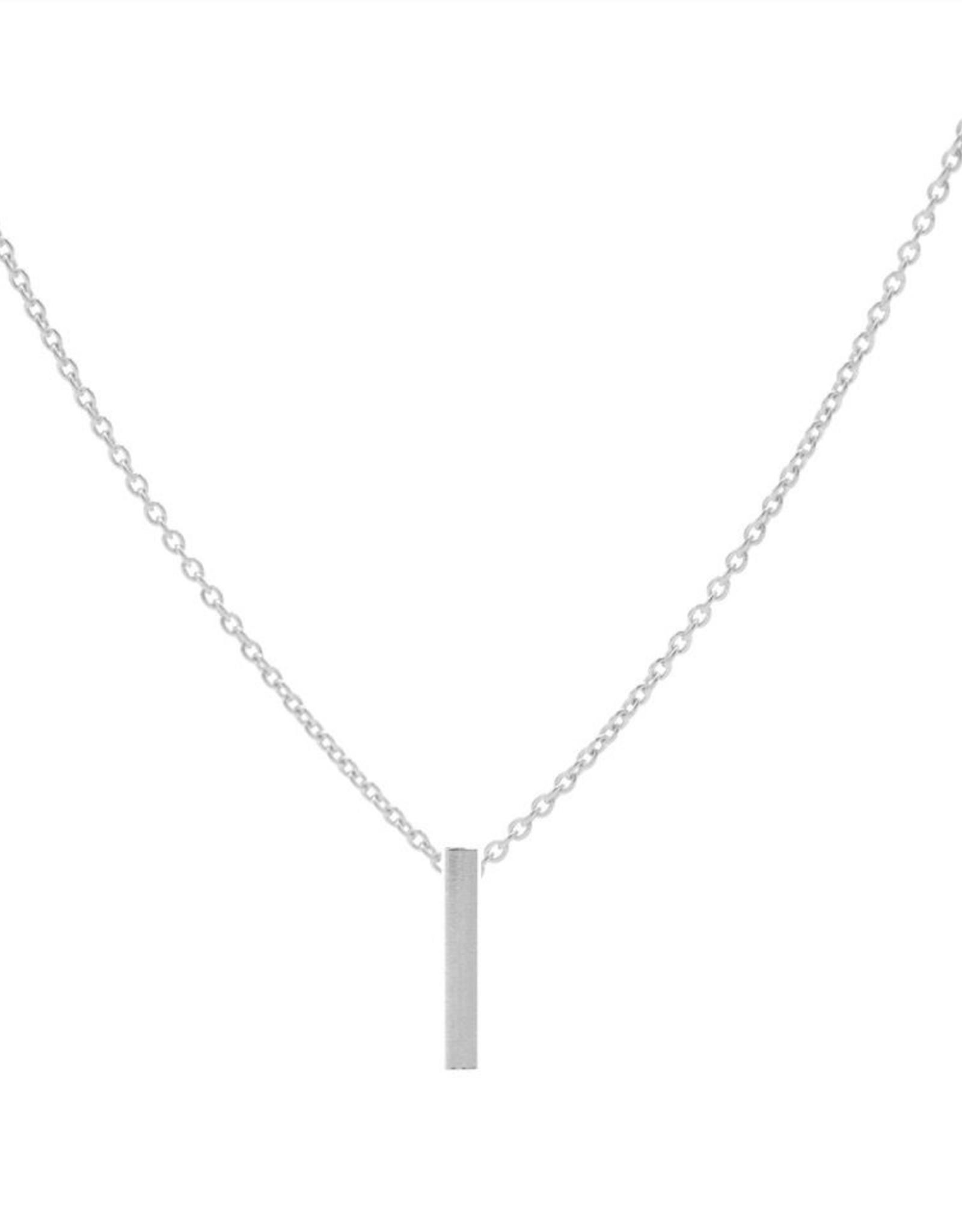 Karma Necklace Tube Vertical Silver