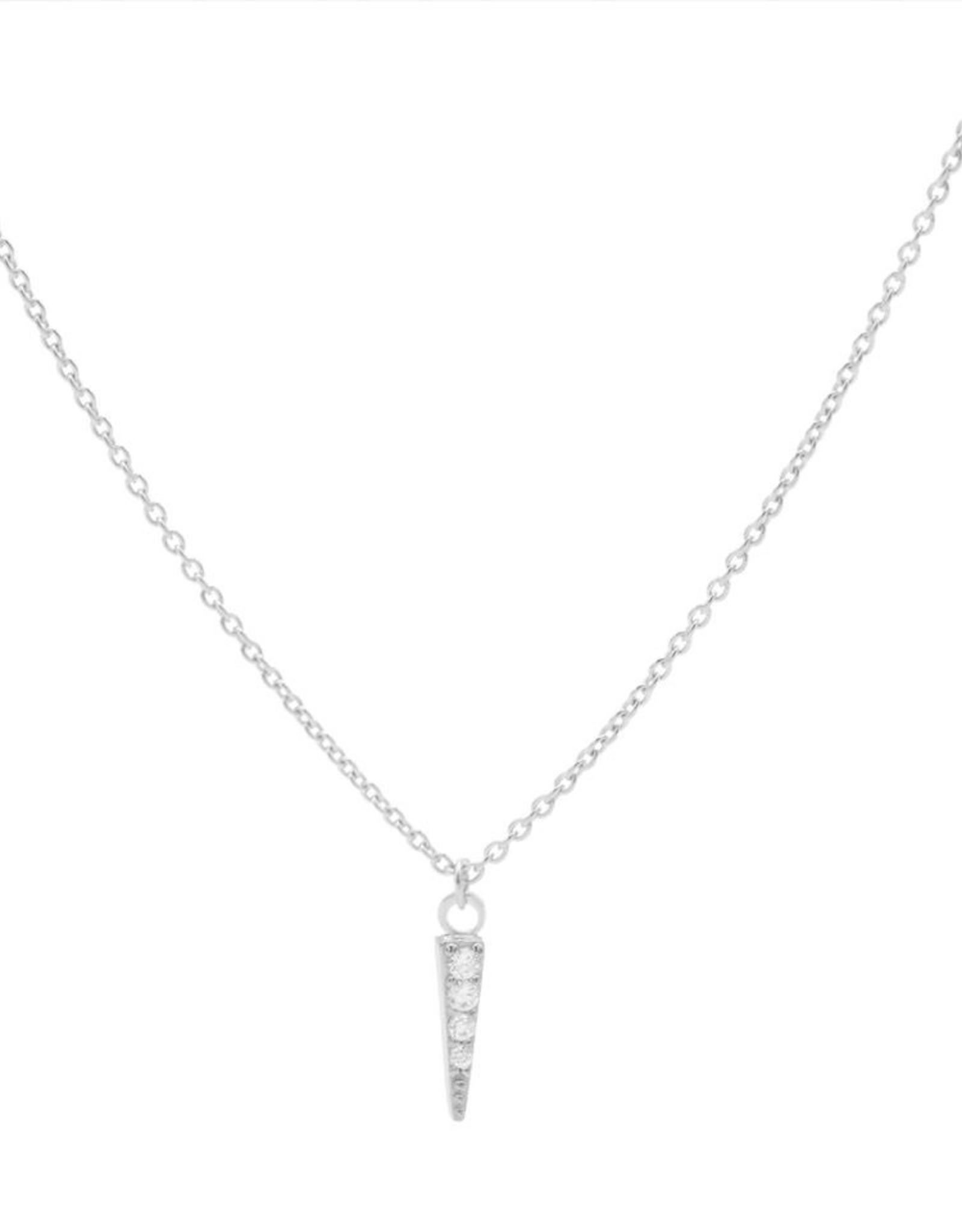 Karma Necklace Zirconia Cone Silver