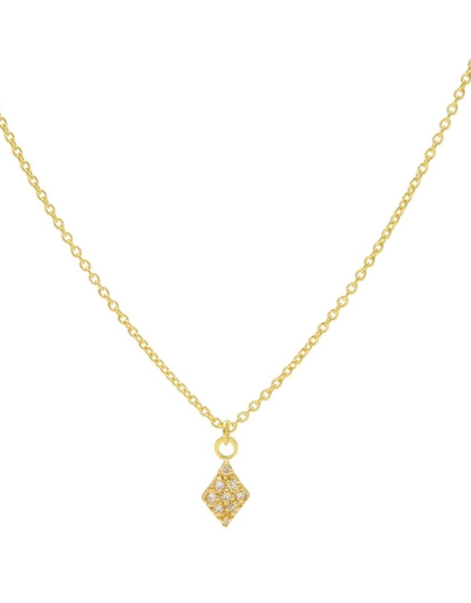 Karma Necklace Zirconia Diamond Goldplated