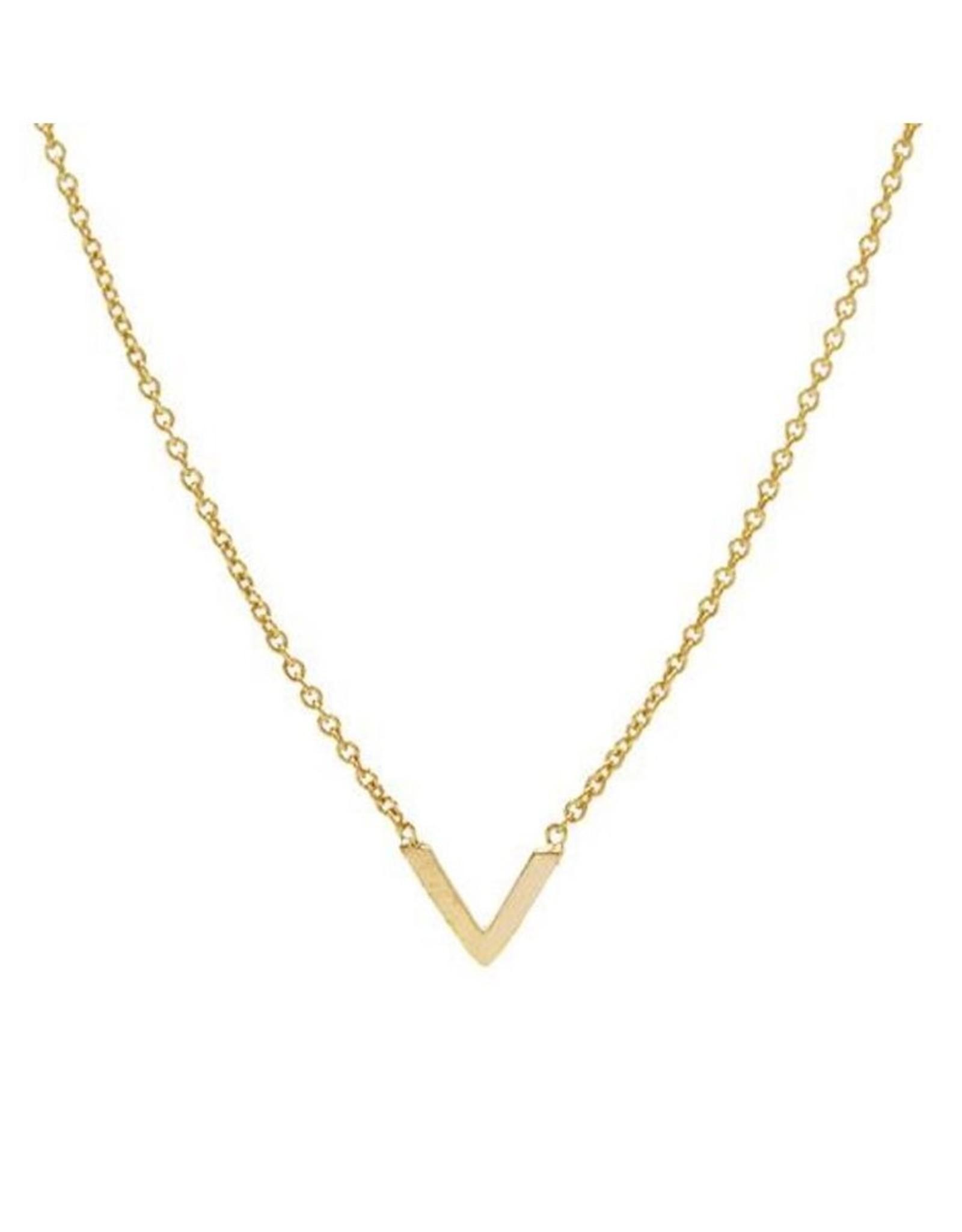 Karma Necklace V Goldplated
