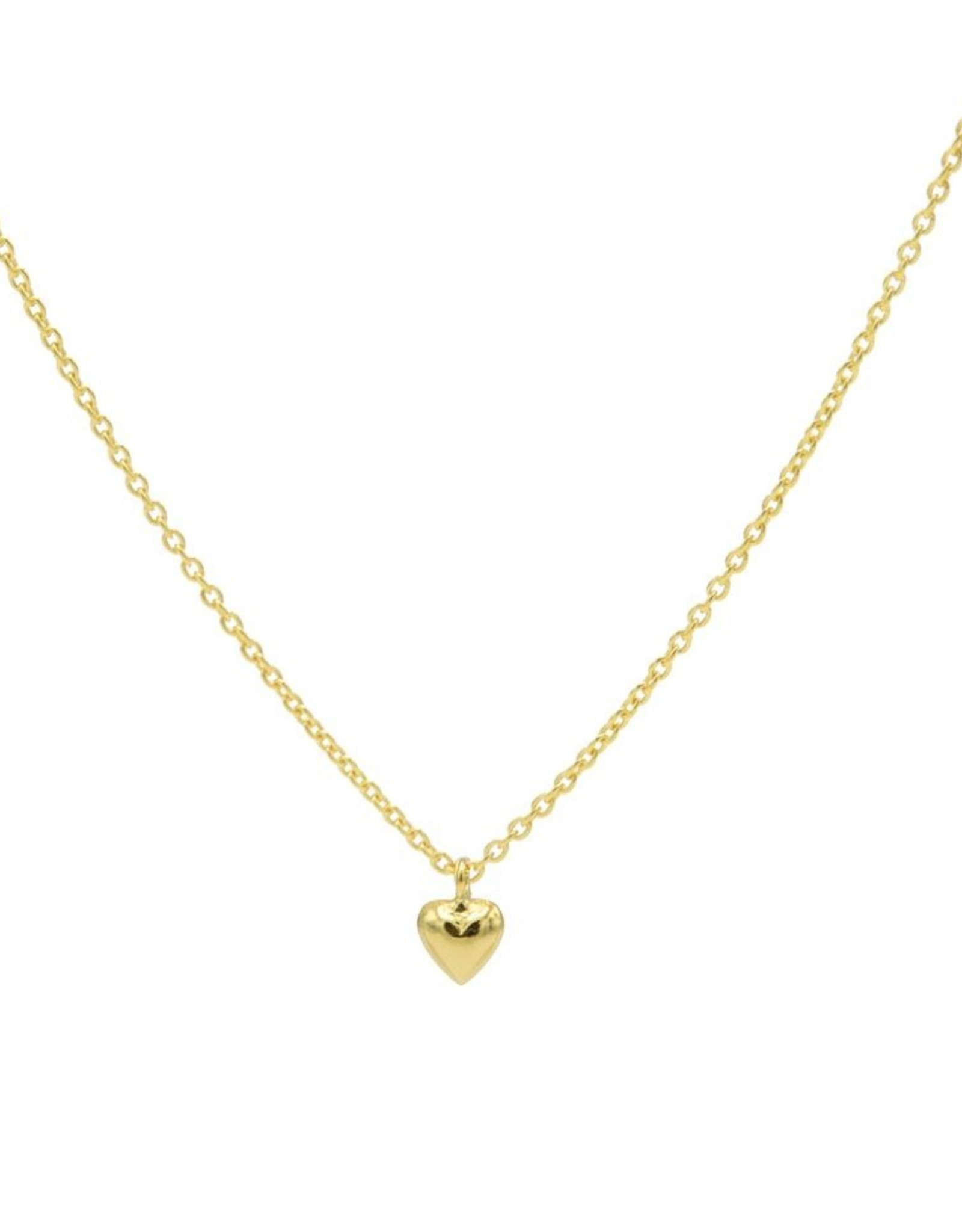 Karma Necklace 3D Heart Goldplated